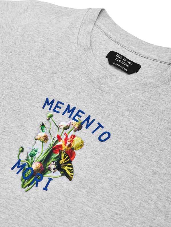 Memento Mori II T-Shirt Grey - Luxury Embroidery - This Is Not Studio