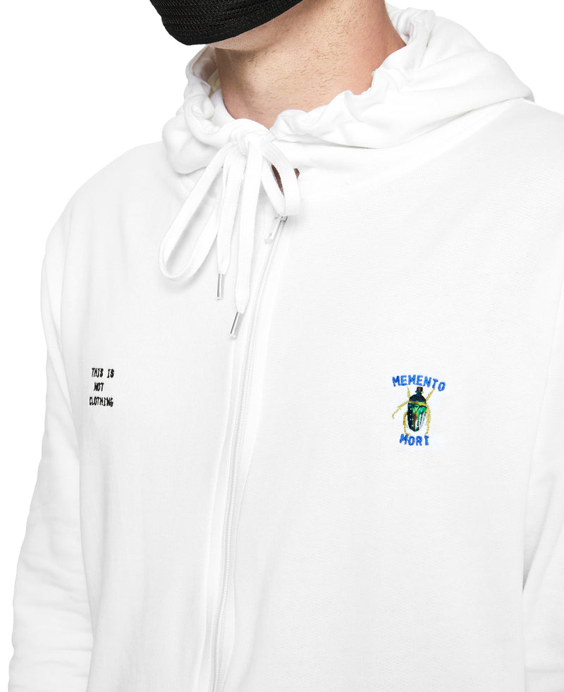 Memento Mori II Hoodie White - Luxury Brand - This Is Not Studio