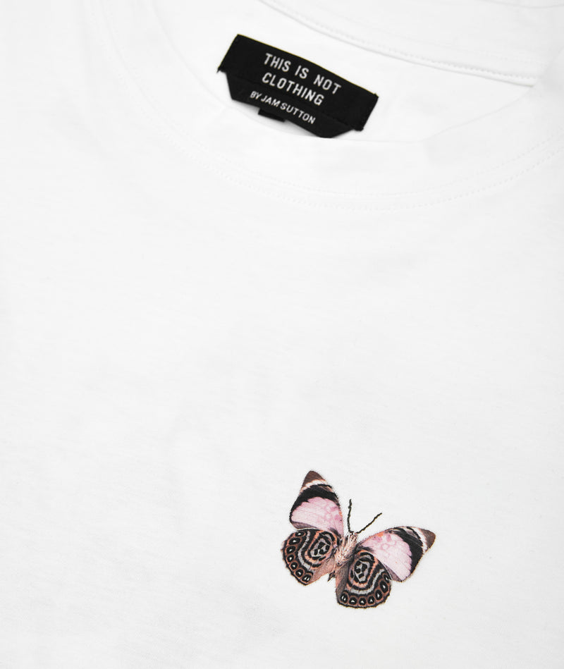 'Memento Mori' I T-Shirt White - embroidery - This Is Not Clothing – This Is Not Studio