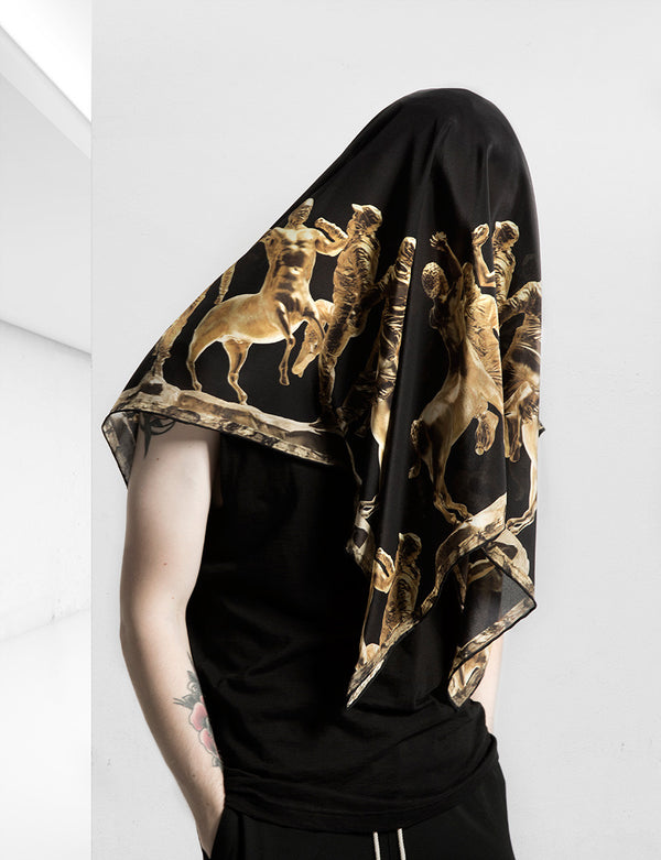 The Battle of the Centaurs Silk Scarf