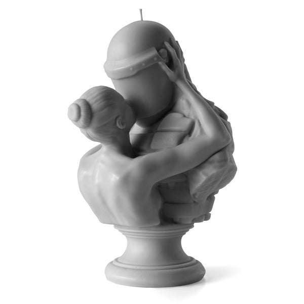 This Is Not Studio -  'The Kiss' Grey Sculpture Candle