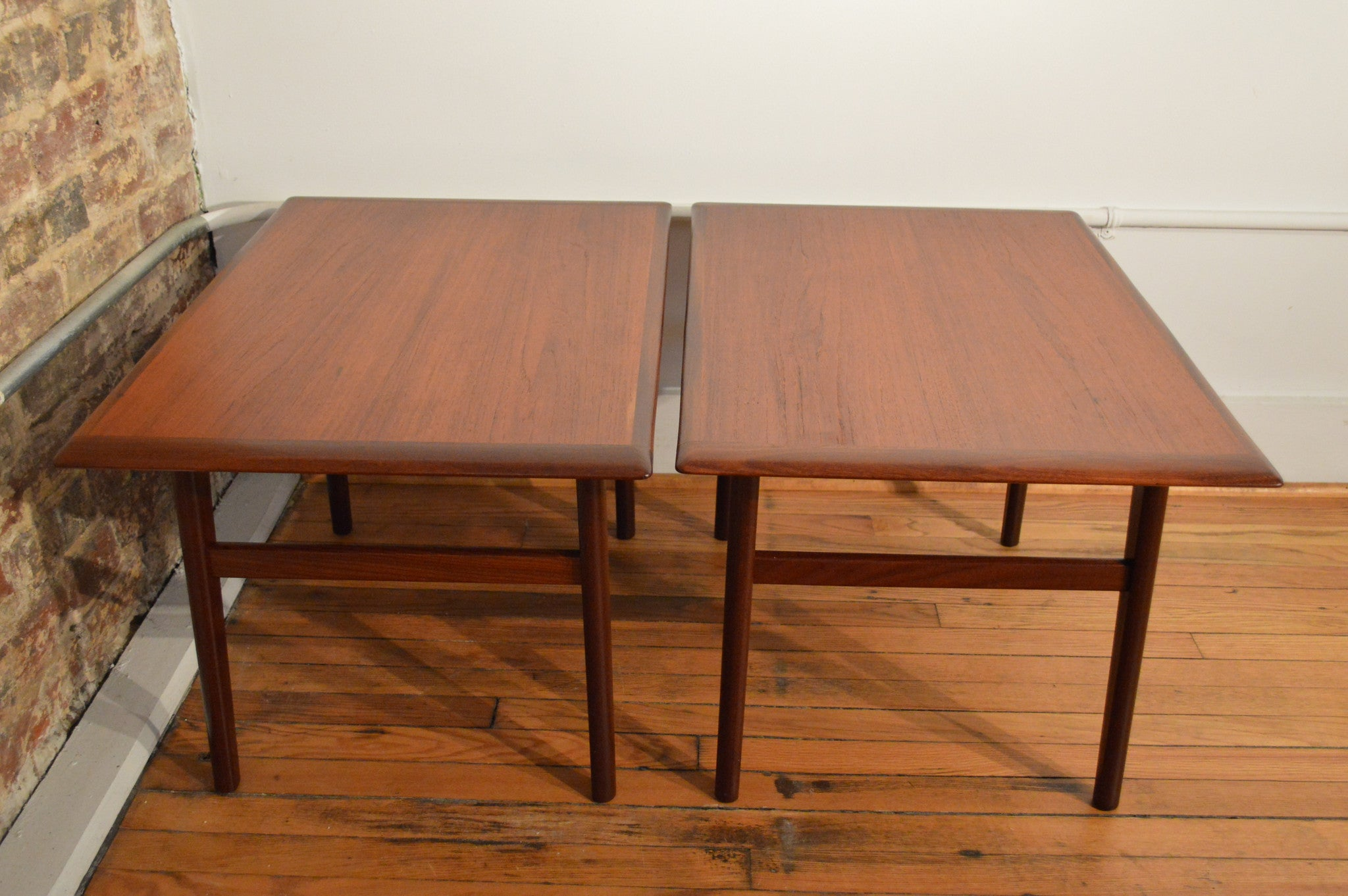 Pair Of Aase Mobler Norway Teak End Tables