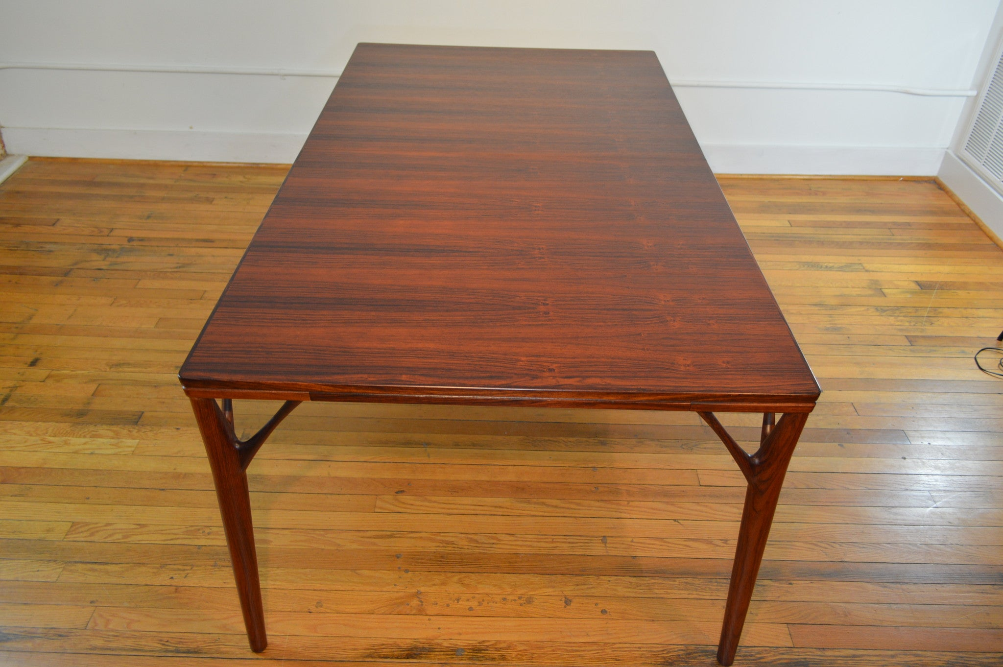 Helge Vestergaard Jensen Rosewood Dining Table with Butterfly Leaf