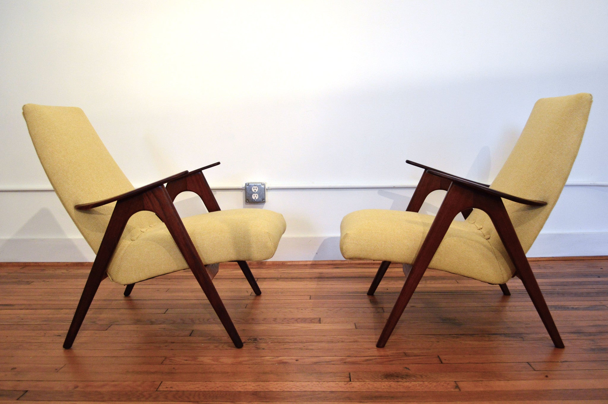 Louis Van Teeffelen Dutch Modern Arm Chairs