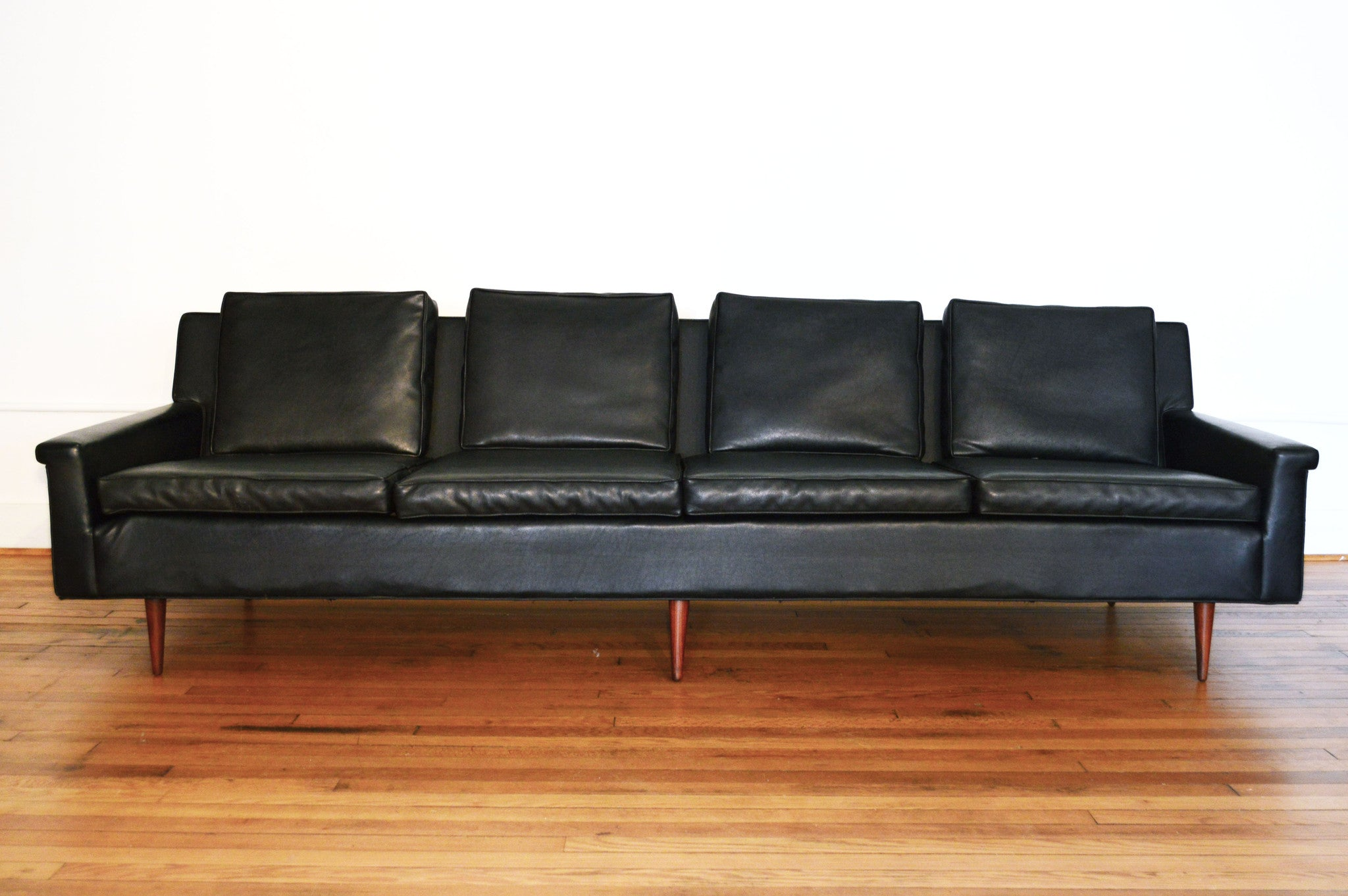 Milo Baughman for Thayer Coggin Black Danish Modern Sofa 1964
