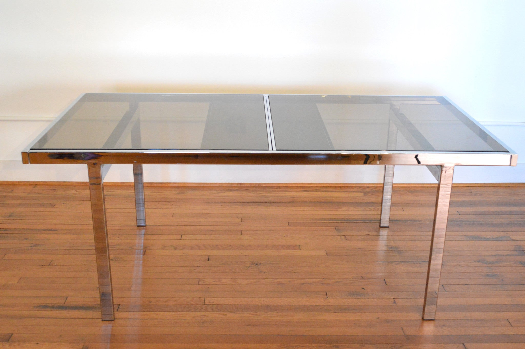 Milo Baughman Chrome Extension Dining Table GalaxieModern