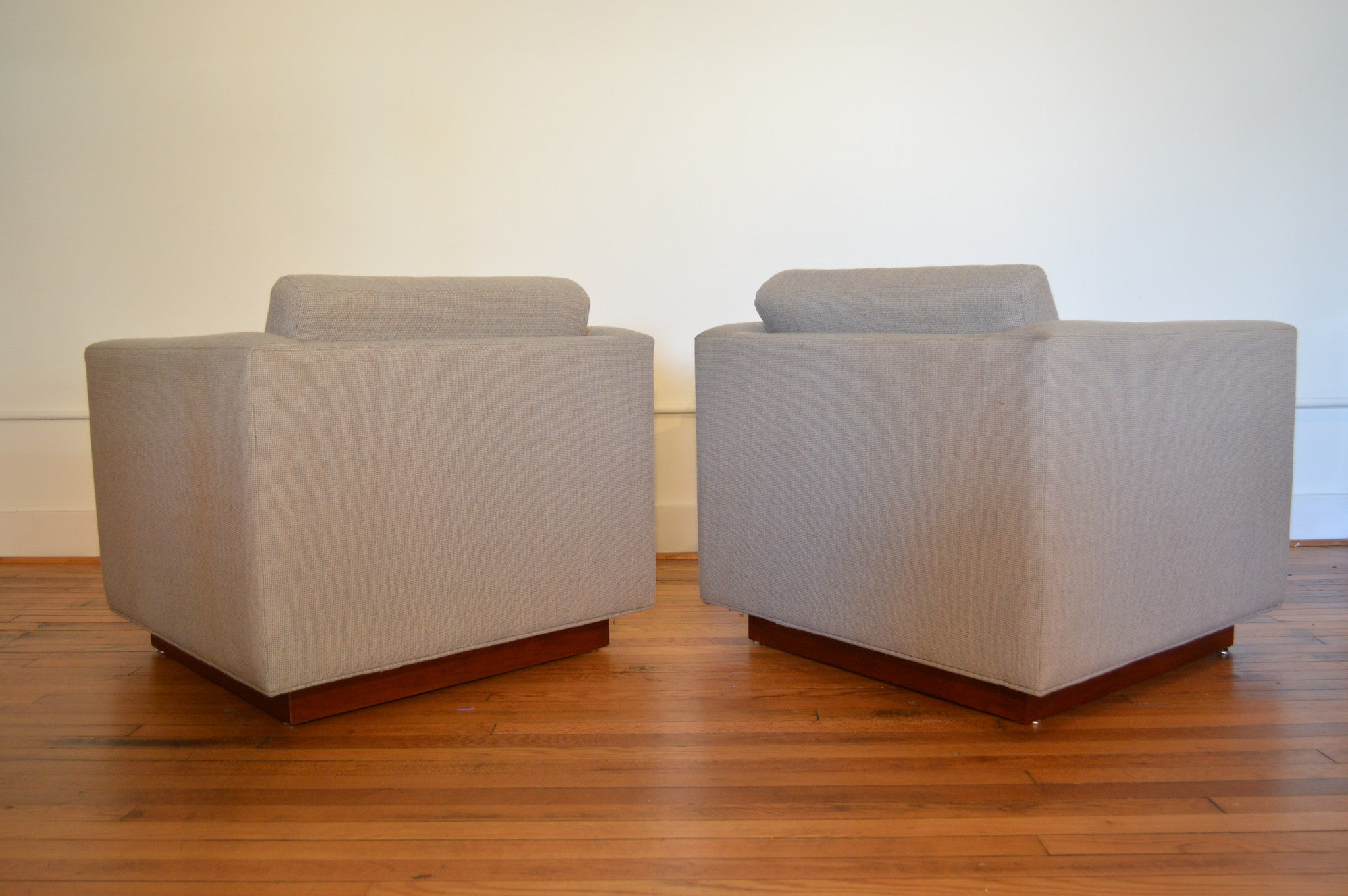 Milo Baughman For Thayer Coggin Cube Chairs