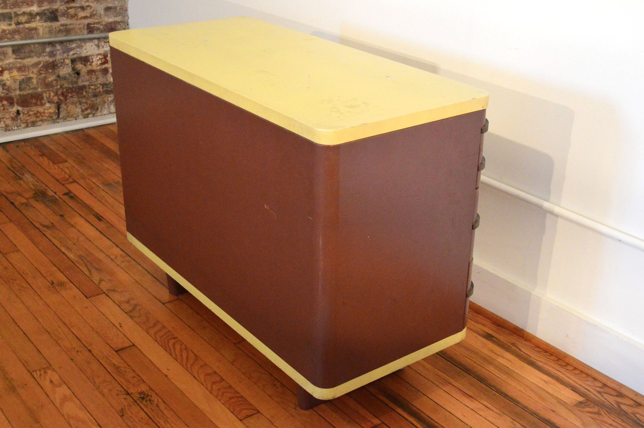 Vtg 1940 50s simmons furniture metal medical Refinished Norman Bel Geddes Simmons Industrial Metal Dresser History Of Total Health Products Tagged