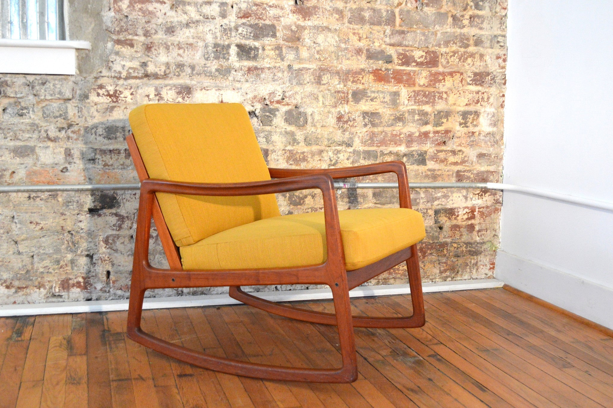 Ole Wanscher for France & Sons Danish Teak Rocking Chair