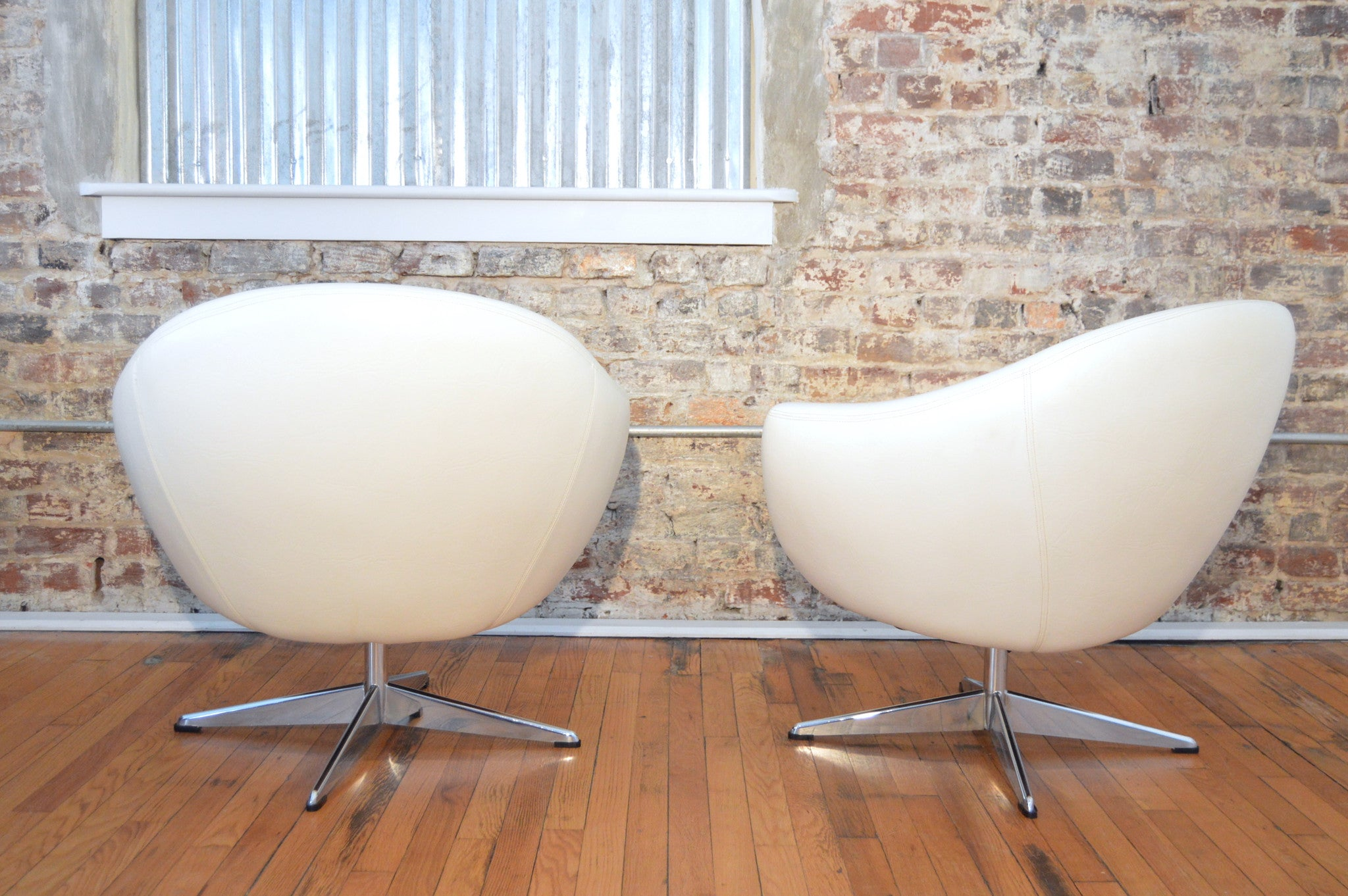 vtg 1940 50s simmons furniture metal medical. Mid Century Modern Space Age White Tub Chairs By Overman Vtg 1940 50s Simmons Furniture Metal Medical