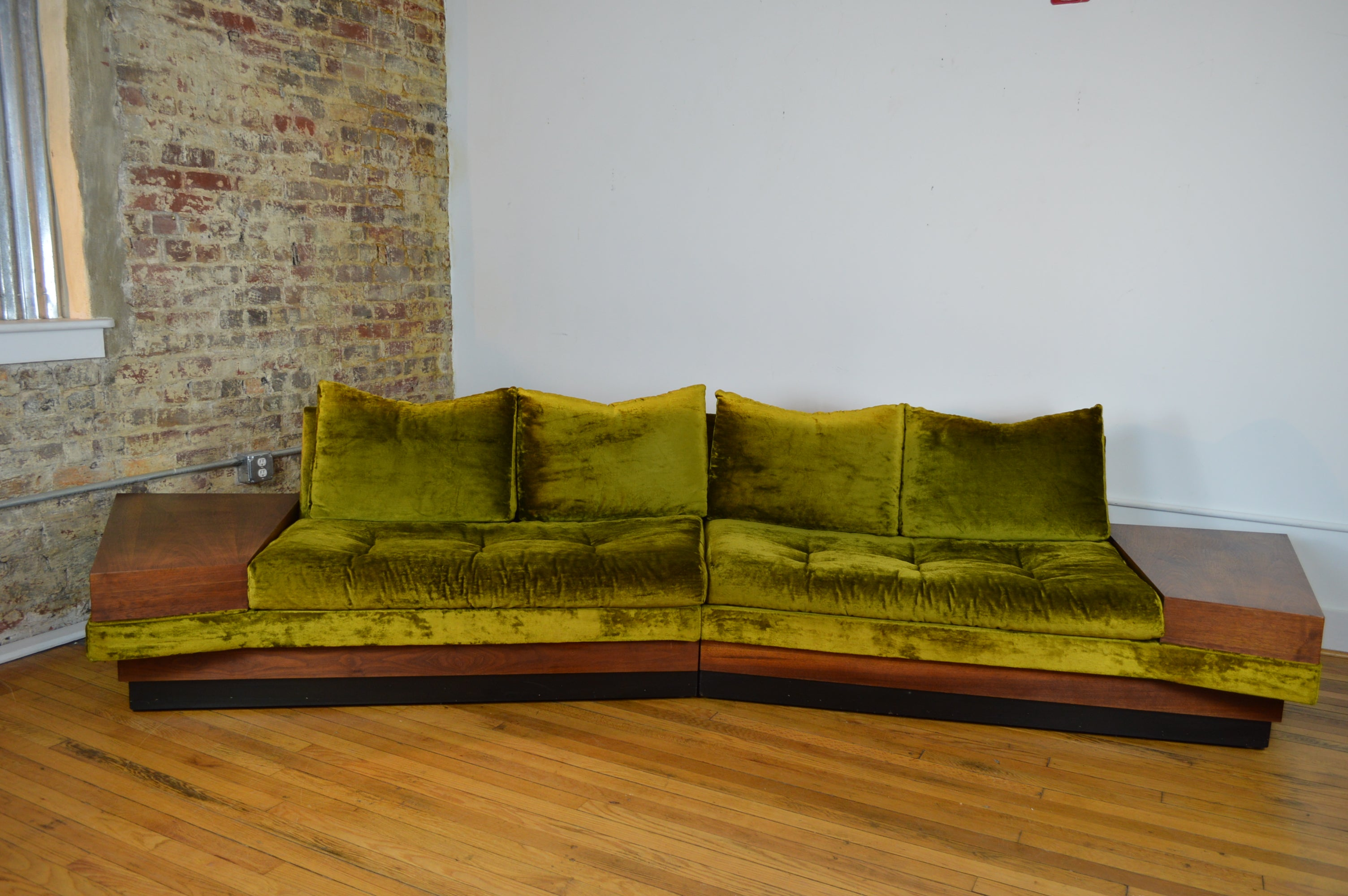 Adrian Pearsall For Craft Associate Curved Sectional Sofa With