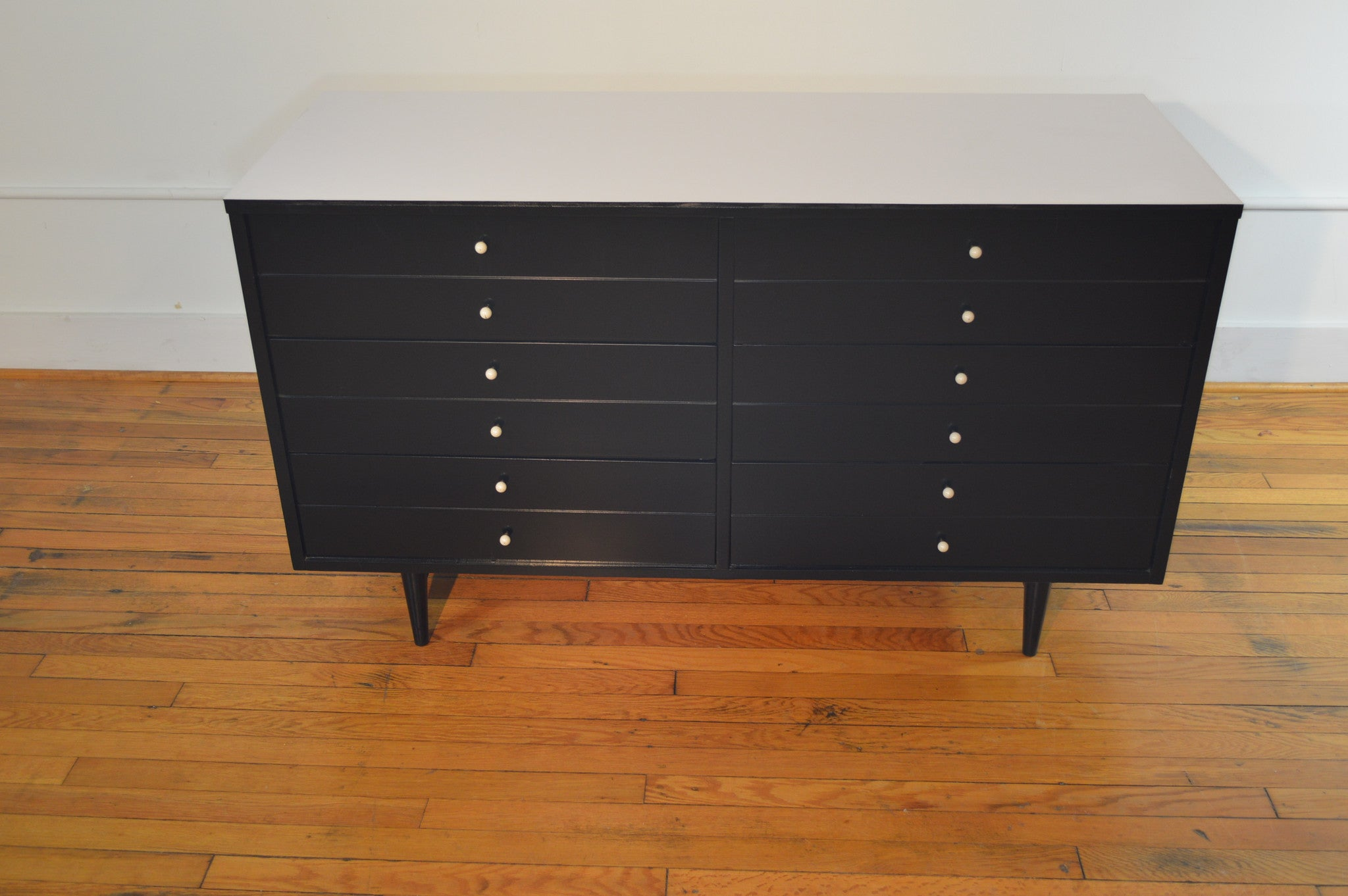 american of martinsville dresser ebonized black lacquer  - american of martinsville dresser ebonized black lacquer