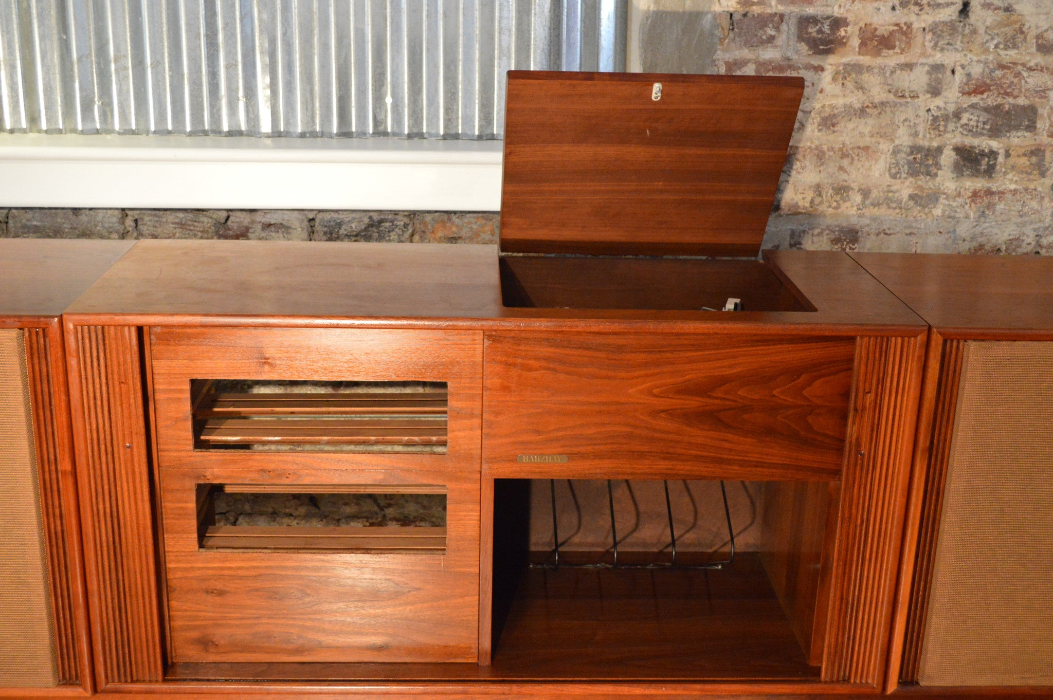Barzilay Danish Modern Stereo Console with Electro-Voice Speakers ...