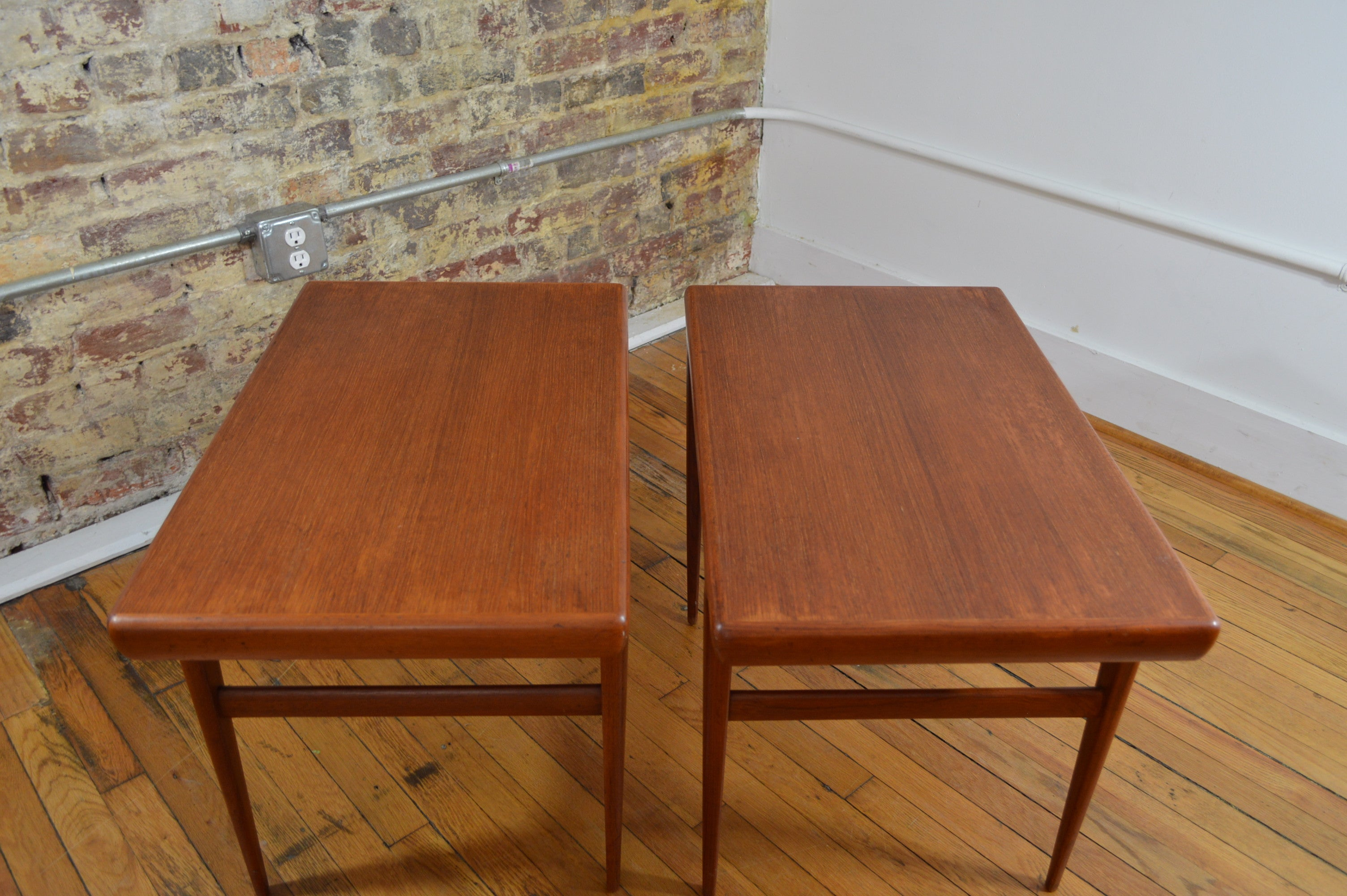Johannes Andersen For Silkeborg Danish Modern Teak End Tables