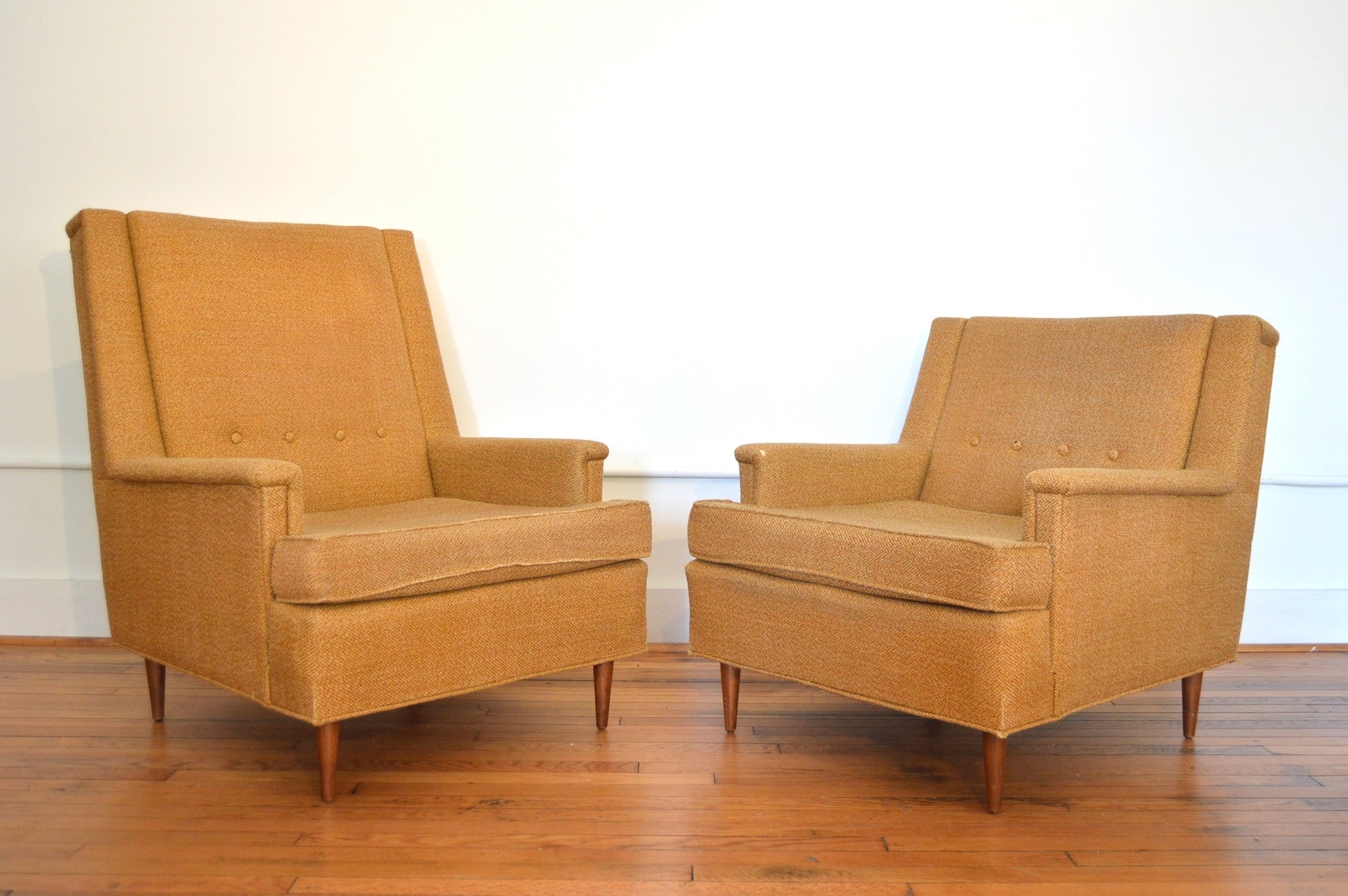King And Queen Arm Chairs In The Style Of Milo Baughman   Danish Modern, Mid  Century Modern Lounge Chairs