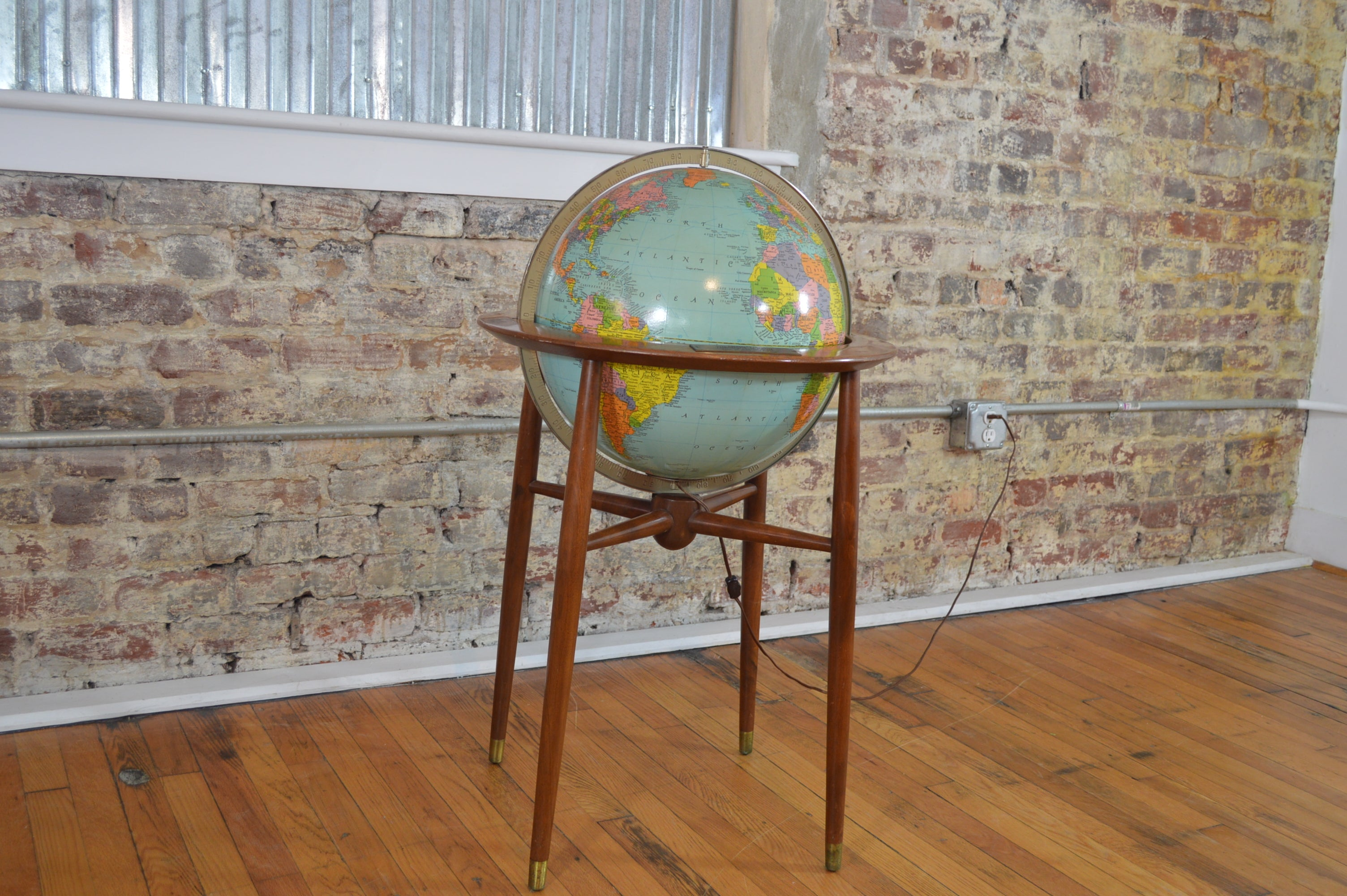 Sold tagged globe galaxiemodern great mid century modern replogle illuminated floor globe dailygadgetfo Choice Image