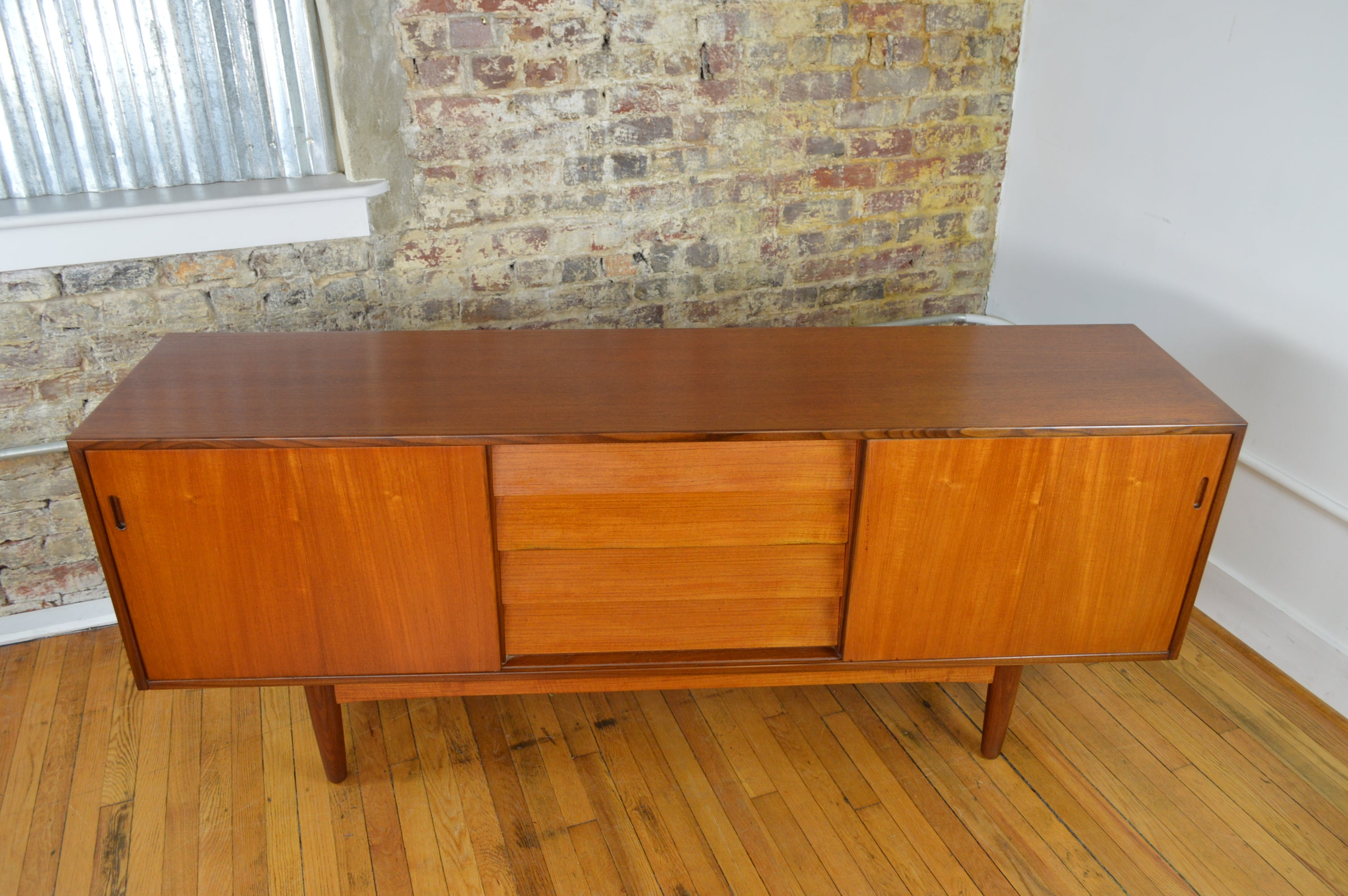 Danish Buffet Credenza : Danish teak credenza with exposed drawers galaxiemodern
