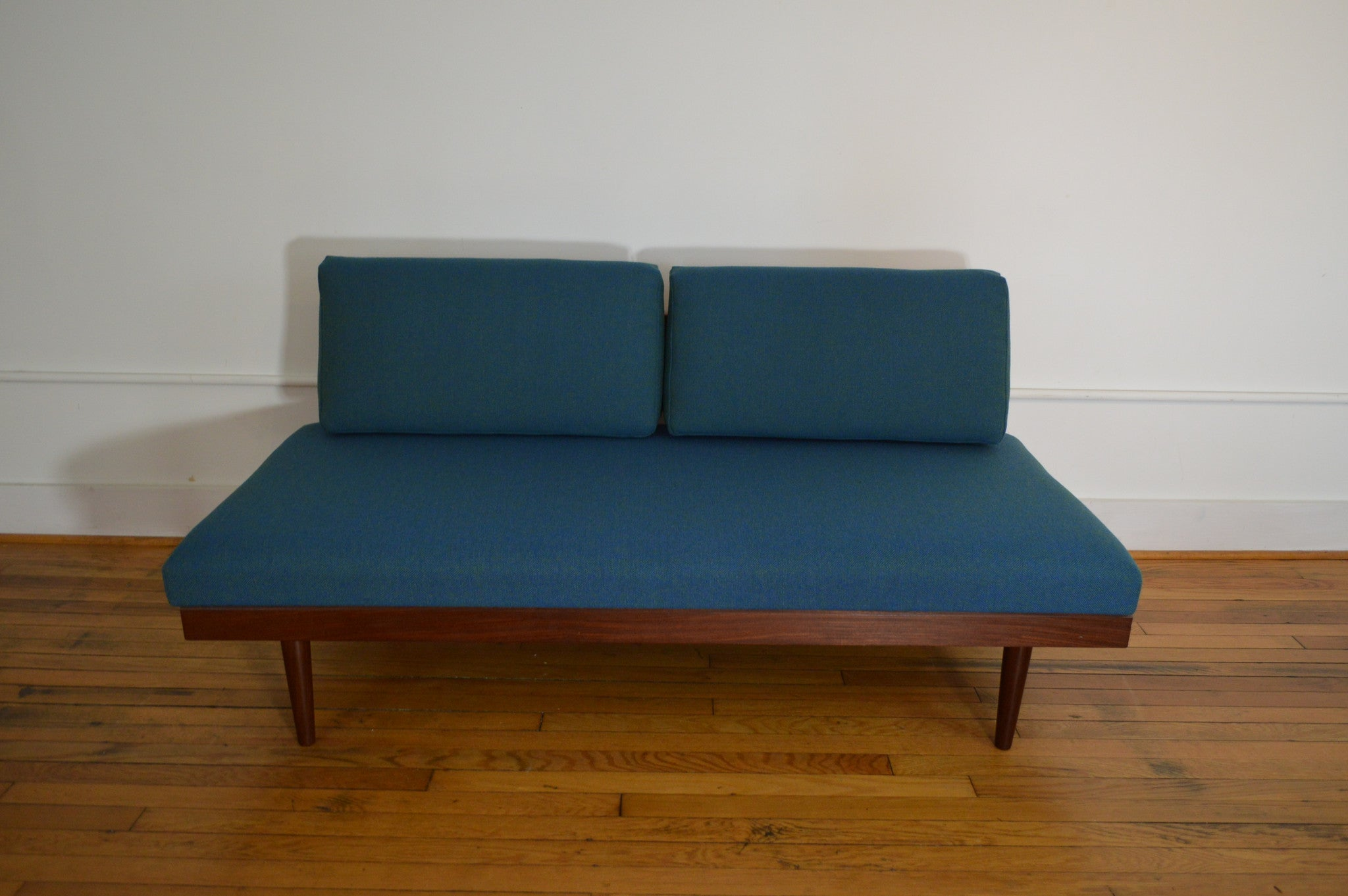 Daybed danish  Scandinavian Daybed / Sofa with Teak Pull Out End Tables ...
