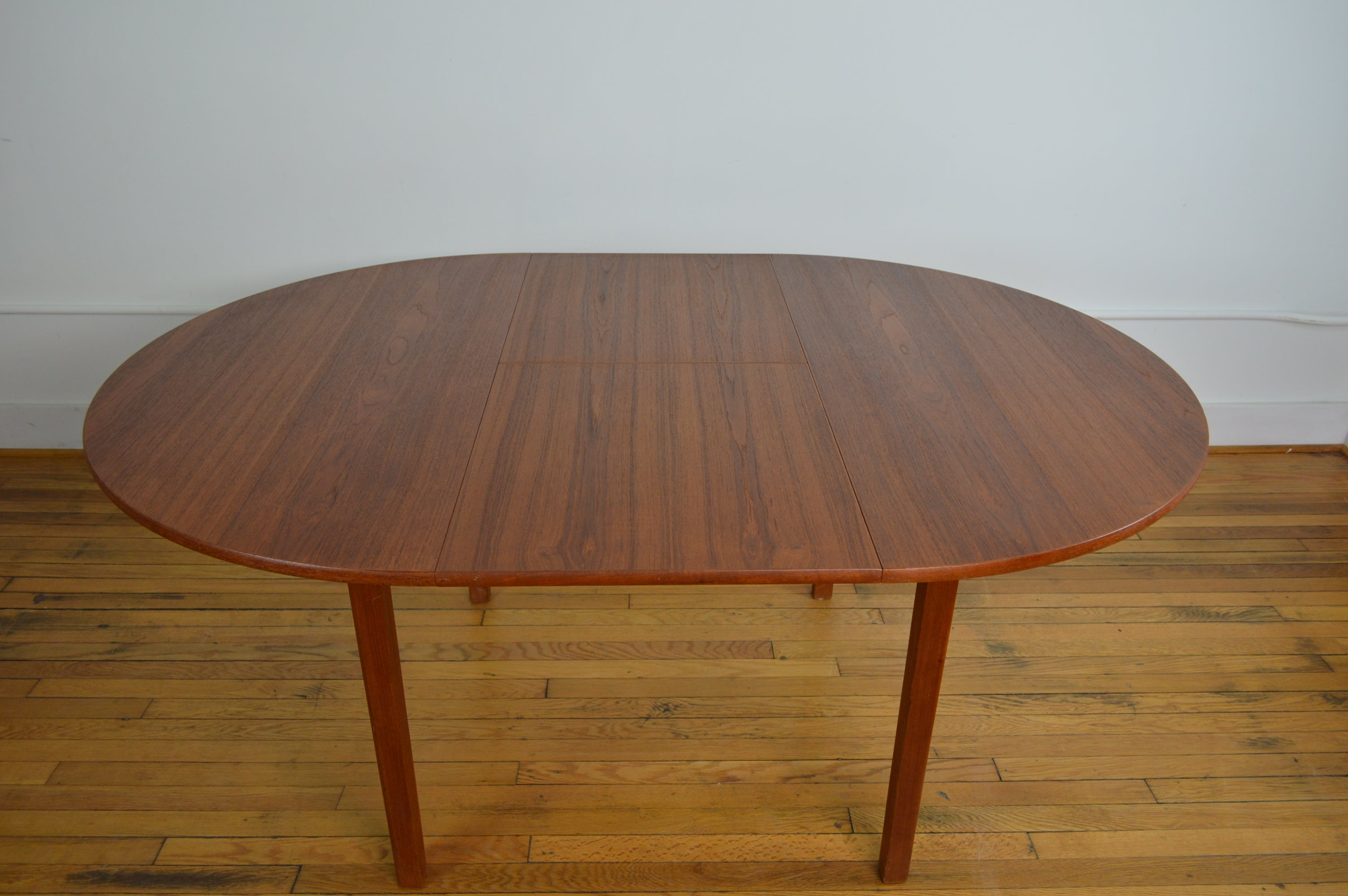Danish Teak Dining Table With Butterfly Extension Leaf GalaxieModern - Teak dining table with leaf