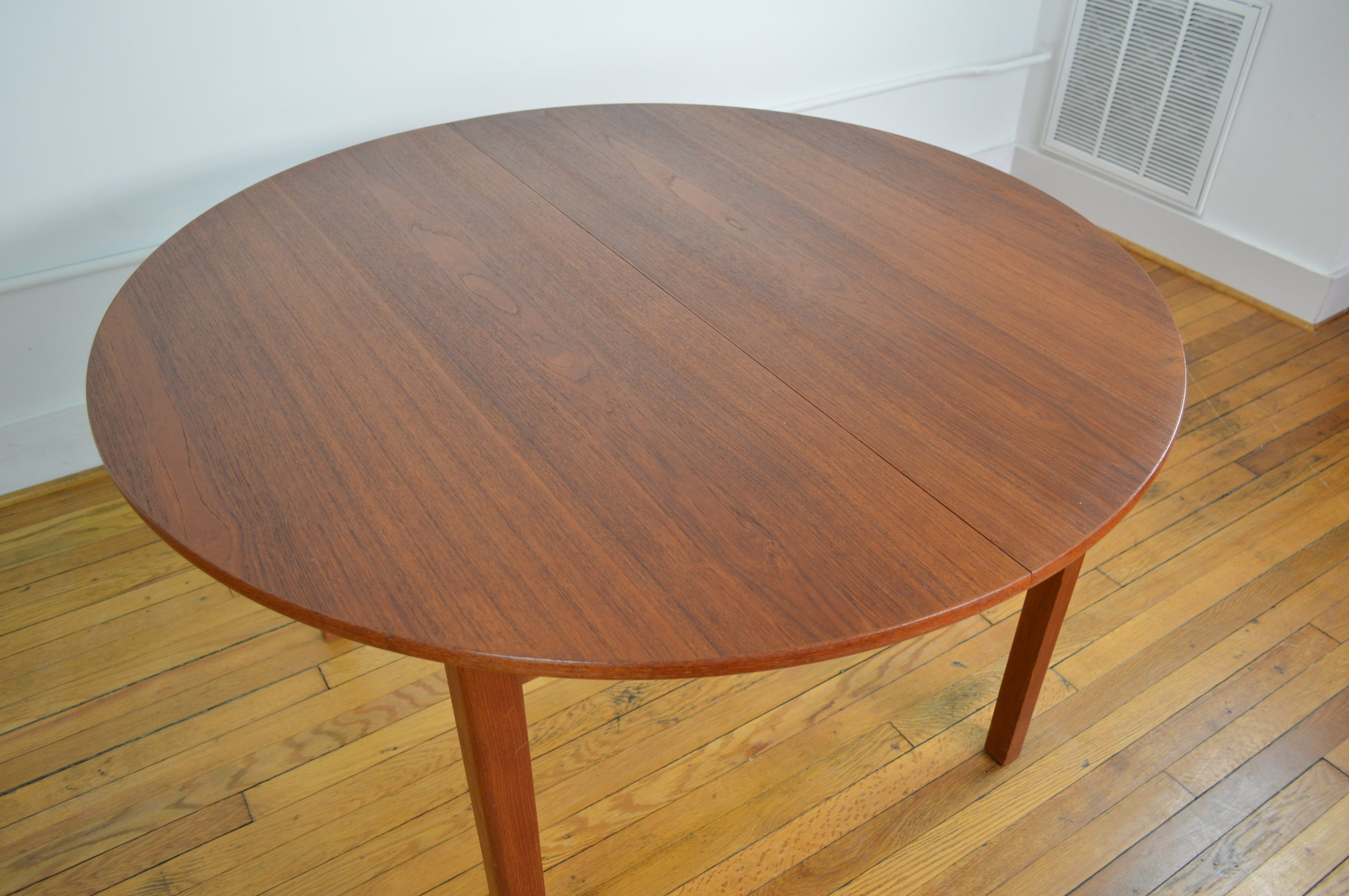 ... Danish Teak Dining Table With Butterfly Extension Leaf