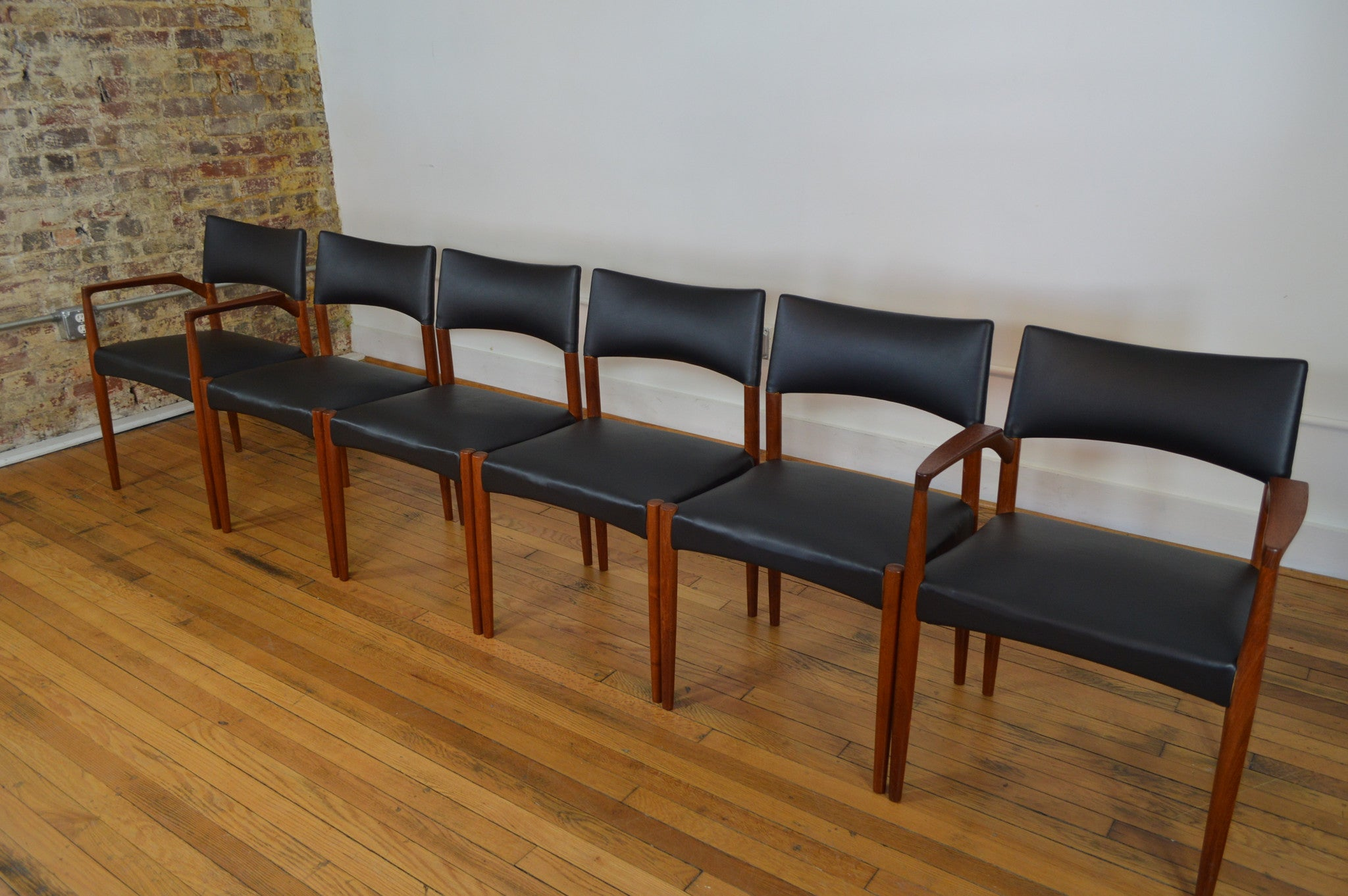 Rare Villy Schou Andersen Set Of Six Danish Teak Dining Chairs