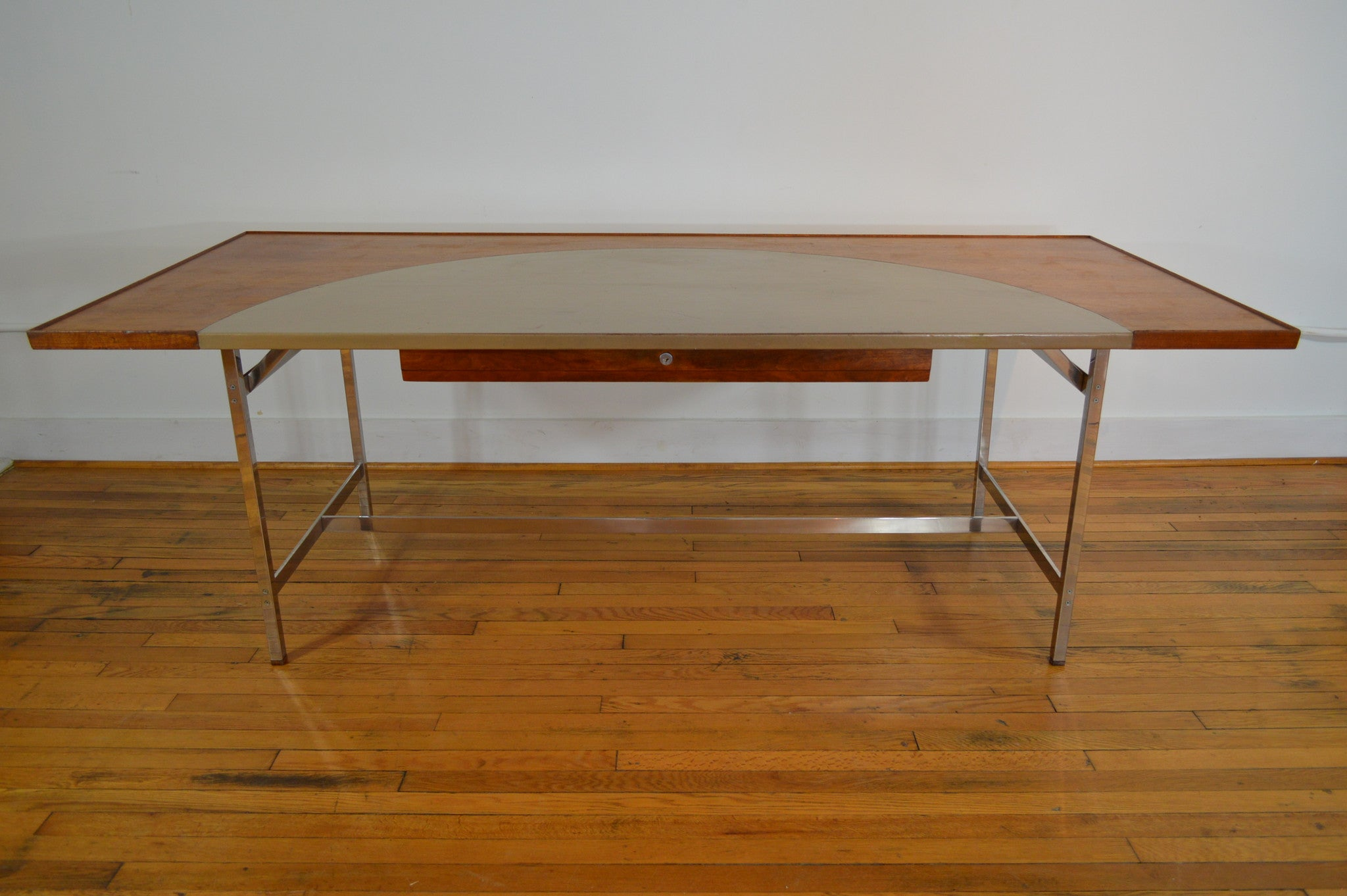 Edward Wormley For Dunbar Mid Century Modern Executive Leather Top Desk