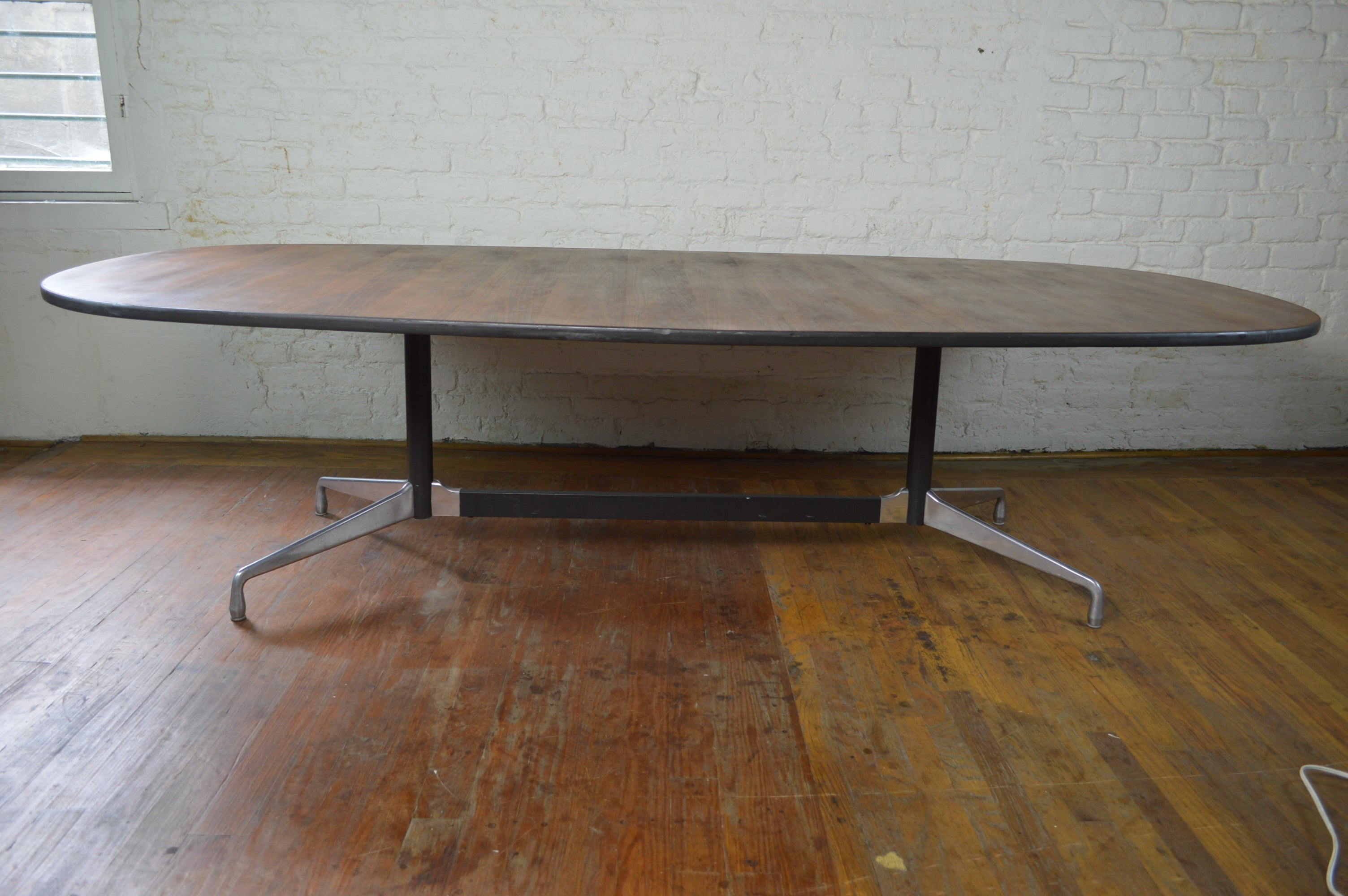 Adrian Pearsall Glass Walnut Mid Century Modern Coffee Table - Mid century conference table