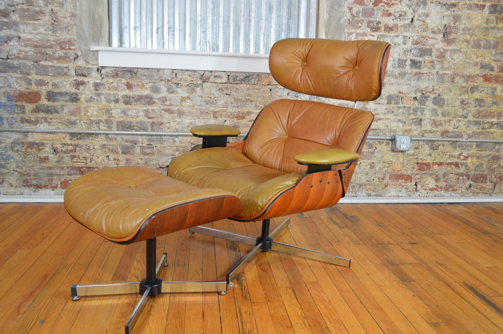 Peachy Plycraft Eames Style Walnut Lounge Chair And Ottoman Pdpeps Interior Chair Design Pdpepsorg