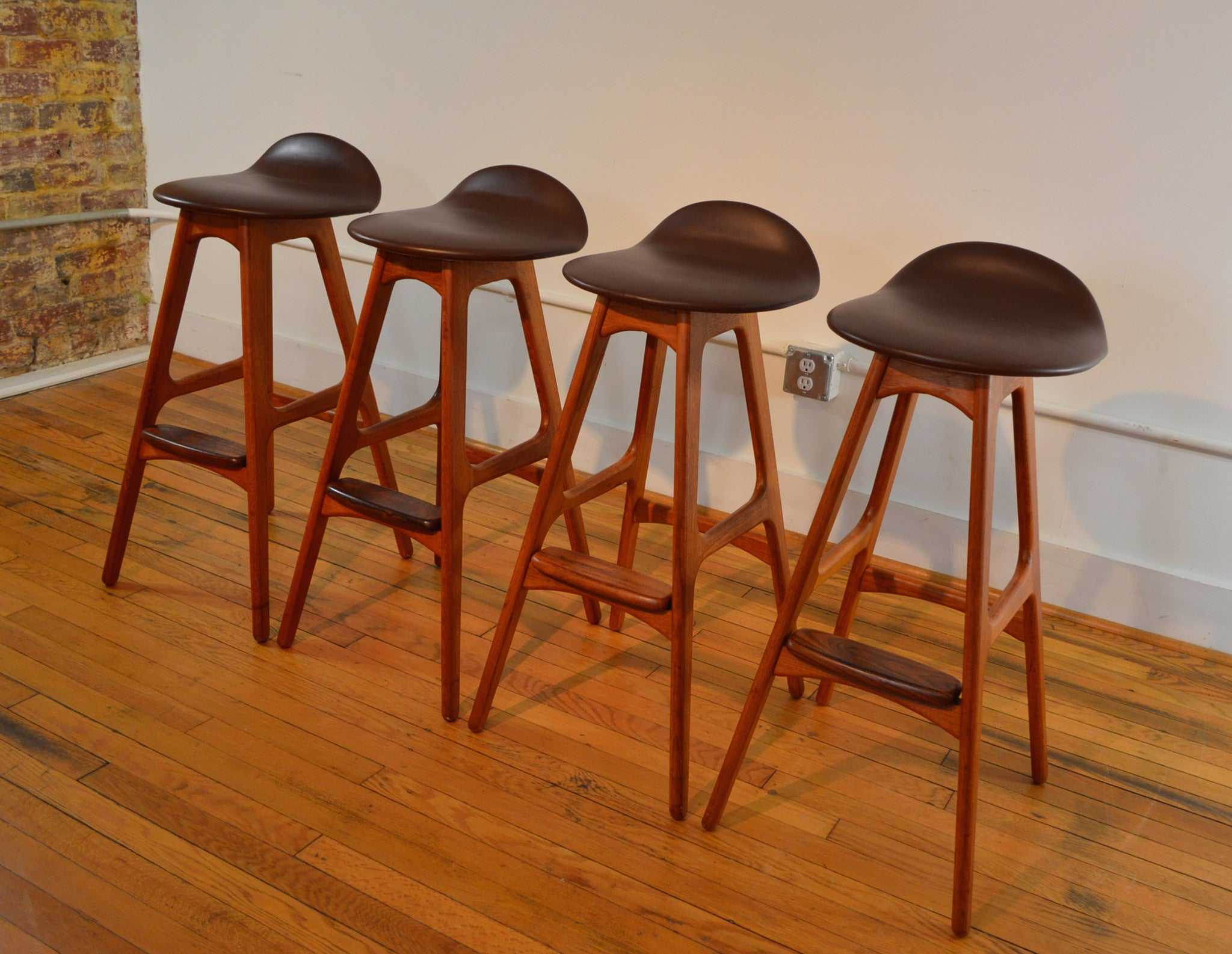 Picture of: Eric Buch Bar Stools Teak And Rosewood Set Of 4 Galaxiemodern