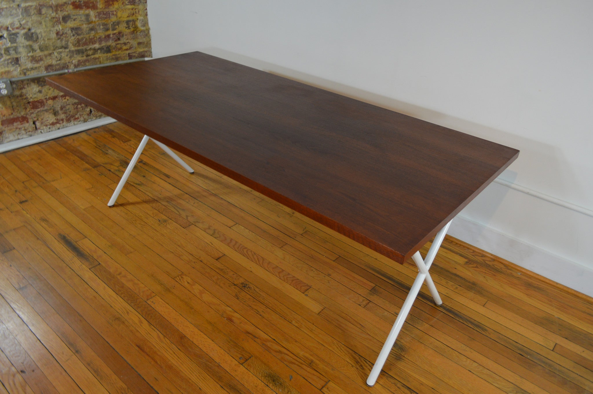 George Nelson for Herman Miller Walnut X Leg Dining Table