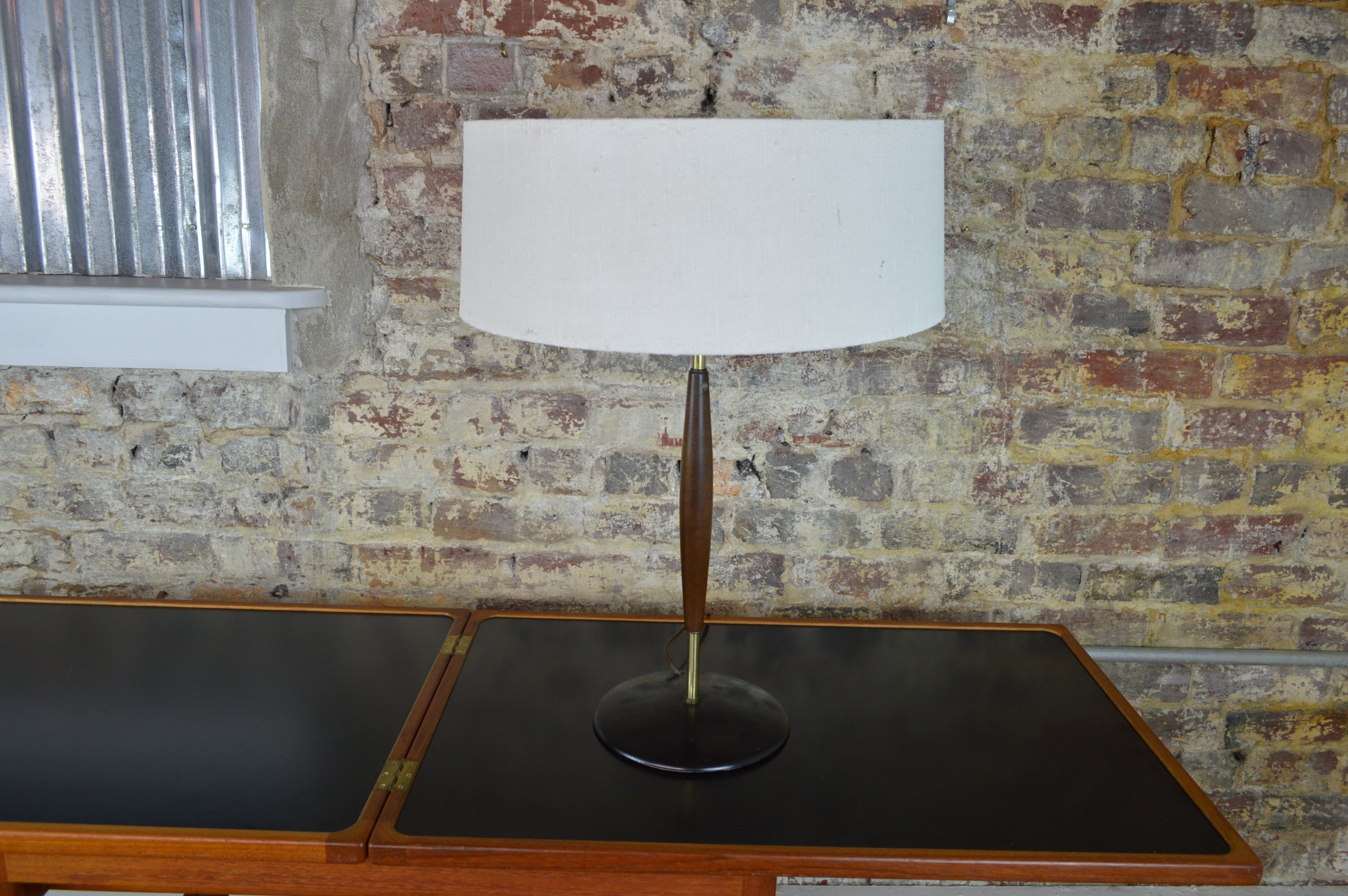 09672acea0b8d Gerald Thurston for Lightolier Table Lamp with Original Shade ...