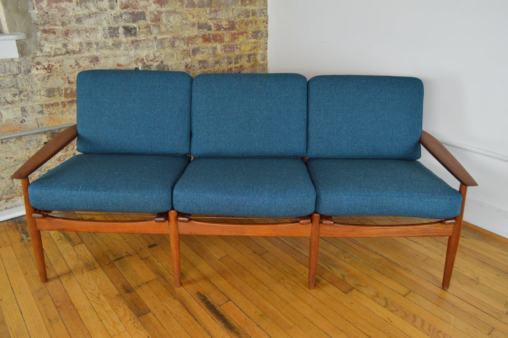 Grete Jalk for Glostrup Teak Three Seat Sofa