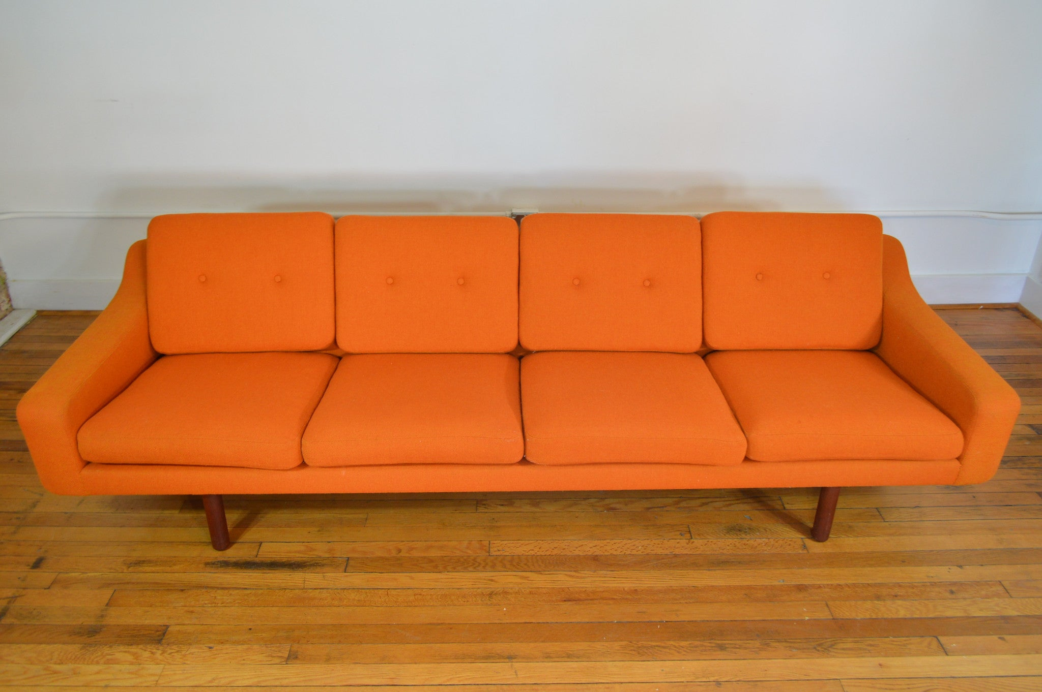 LK Hjelle Norway Scandinavian Sofa with Teak Legs