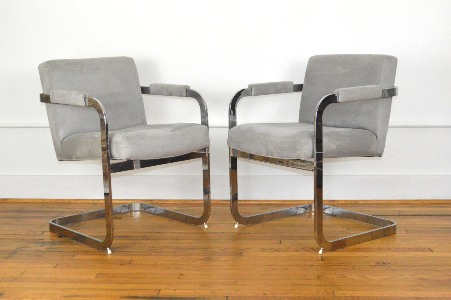 Milo Baughman For Thayer Coggin Chrome Dining Chairs With