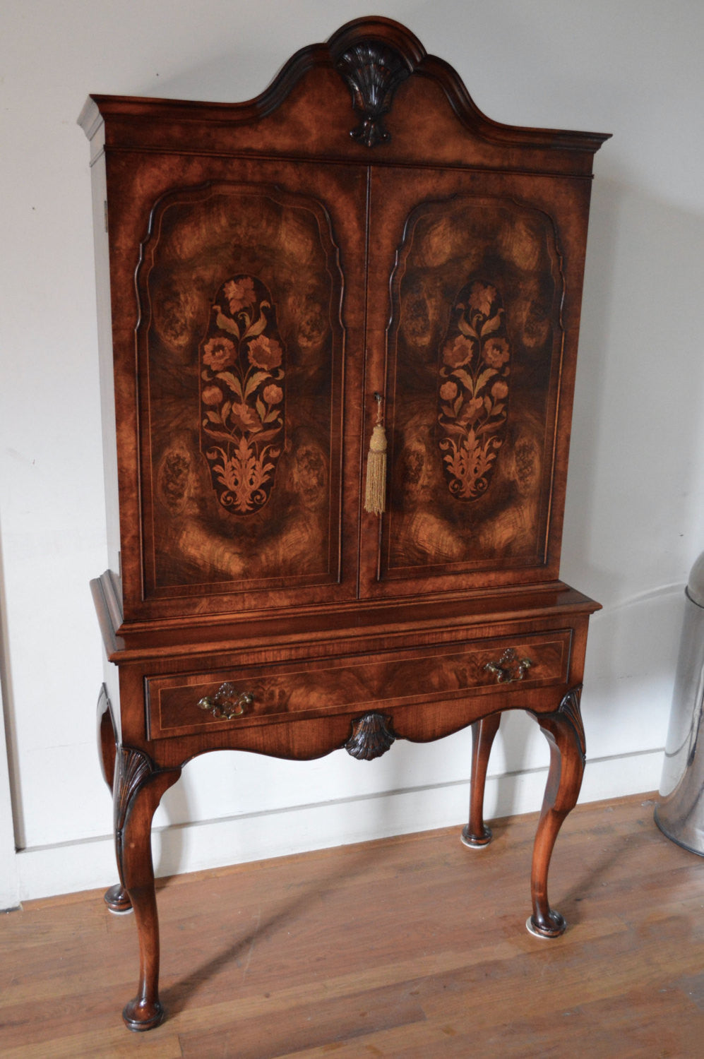 1920s French Highboy / China Cabinet   SALE