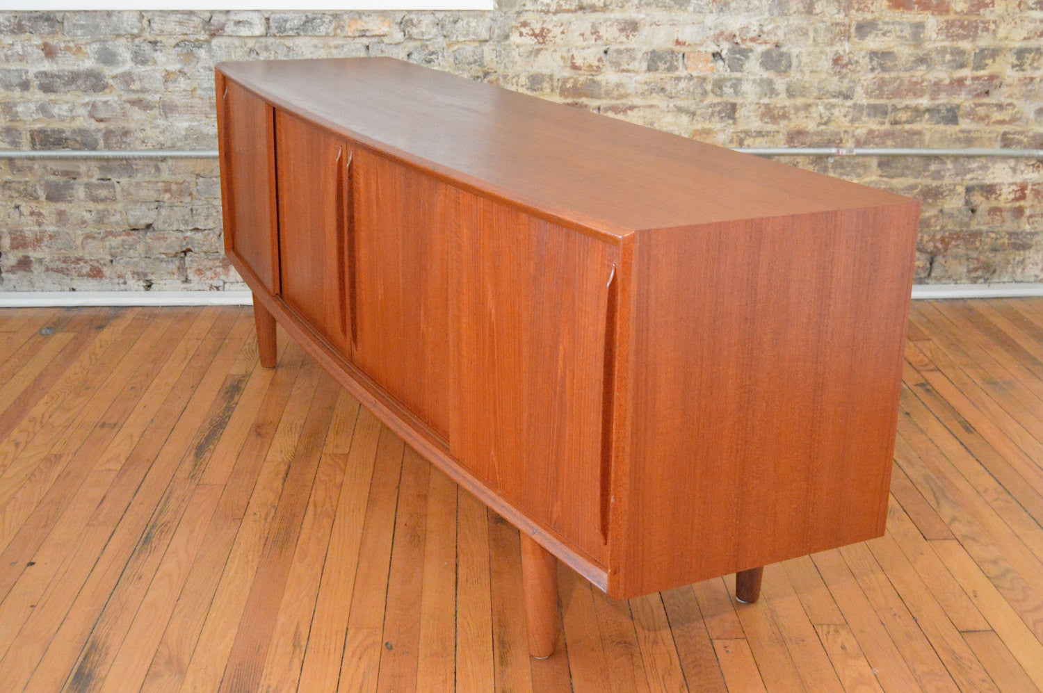 Danish Sideboard Credenza : Dining room low mid century credenza vintage danish sideboard