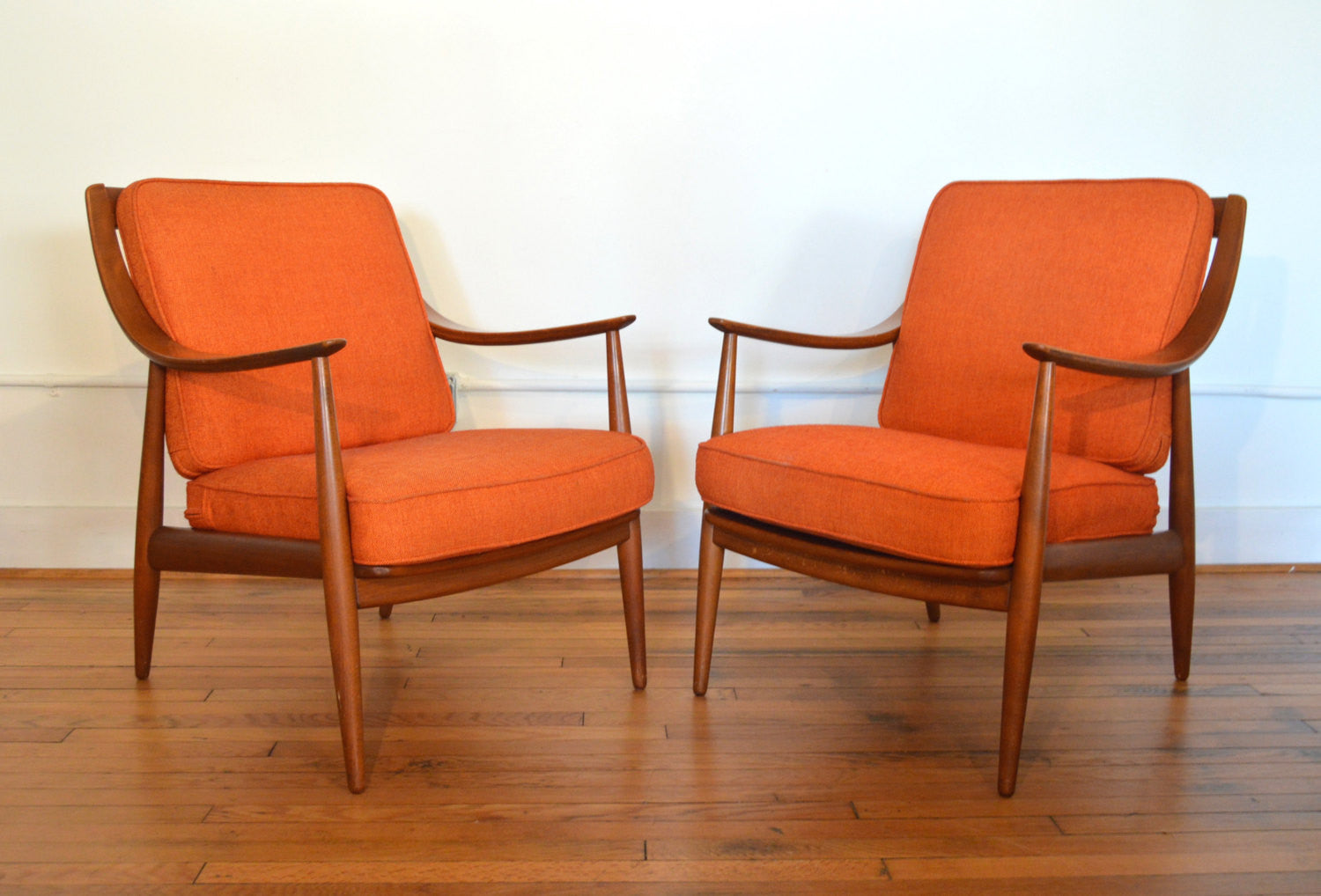 Pair Of Danish Modern Lounge Chairs By Peter Hvidt And Orla Mølgaard  Nielsen For France U0026 Daverkosen