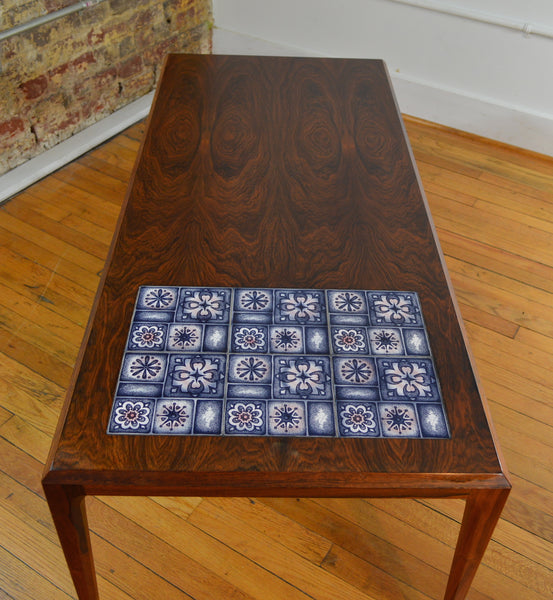 Bill Of Sale Example >> Rosewood and Tile Coffee Table by Johannes Andersen with ...