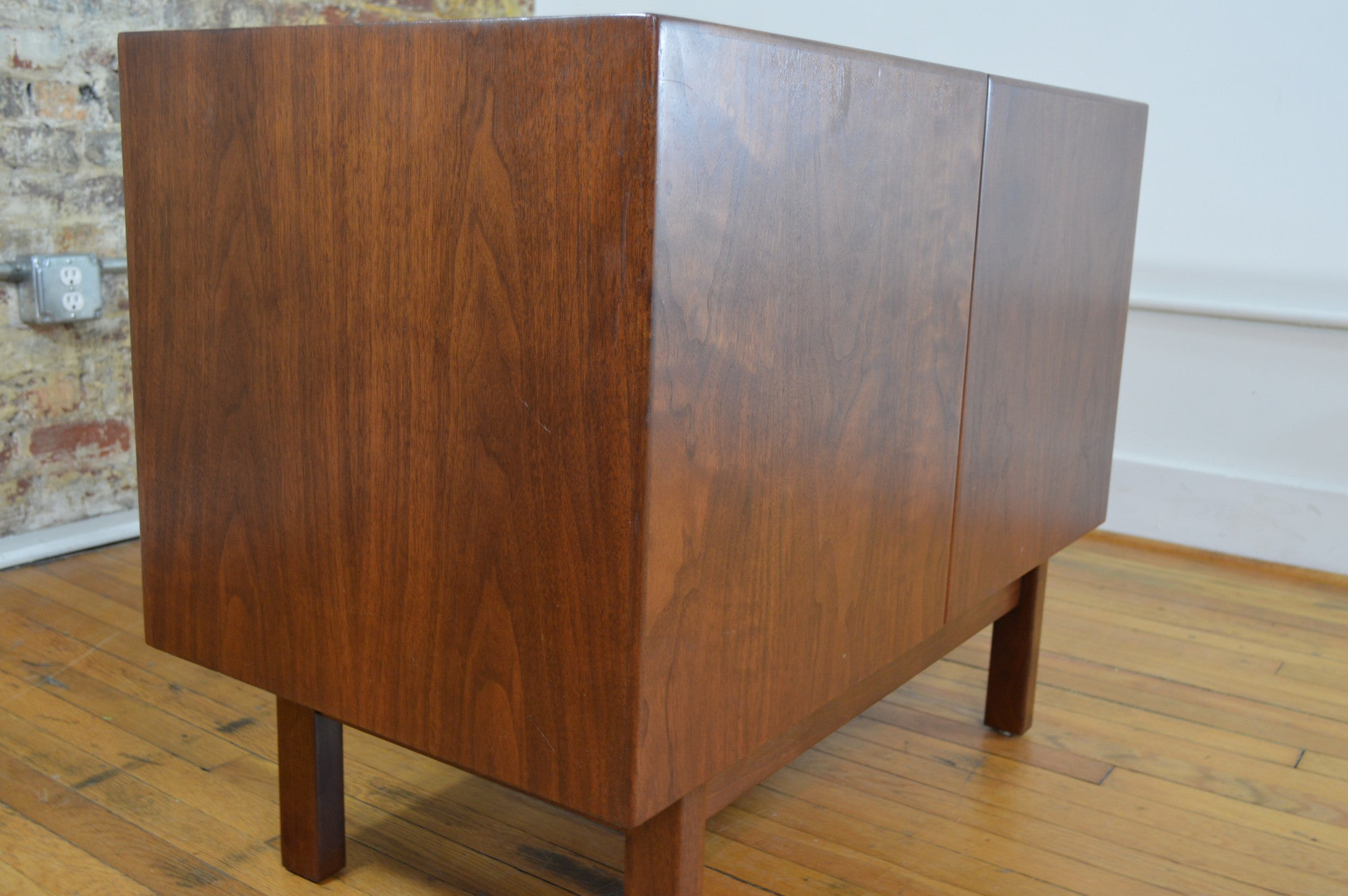 Small Danish Credenza : Diy modern media cabinet walnut corner long low danish rosewood