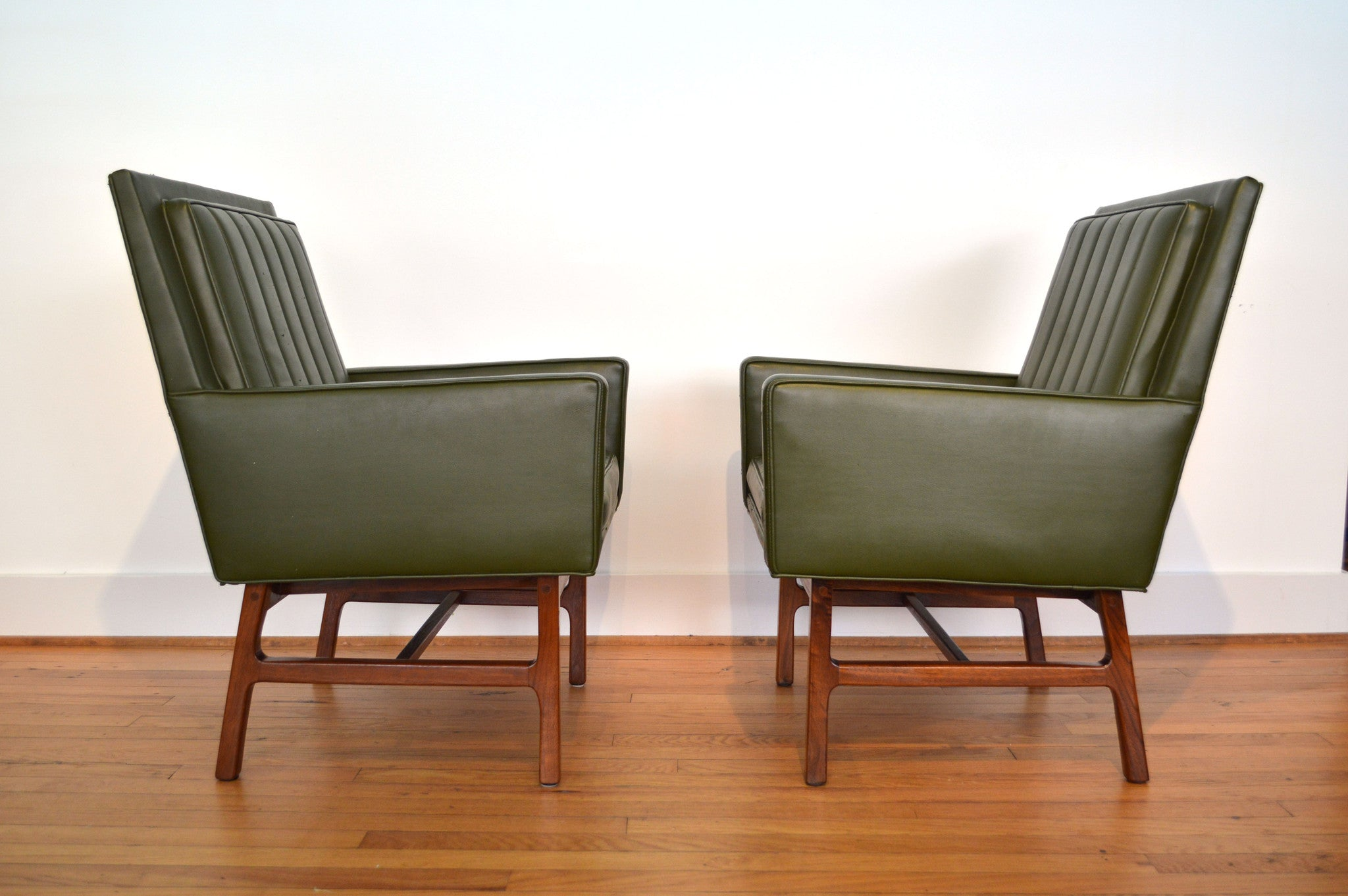 Milo Baughman For Thayer Coggin Mid Century Modern Arm Chairs