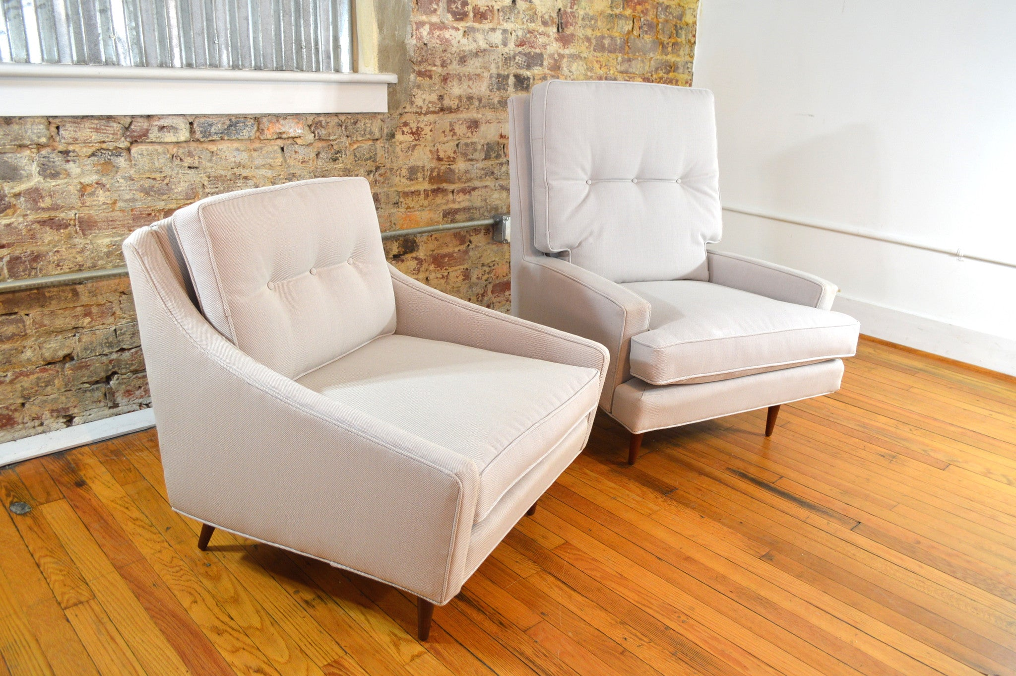 Milo Baughman Lounge Chairs King and Queen Set for James Inc