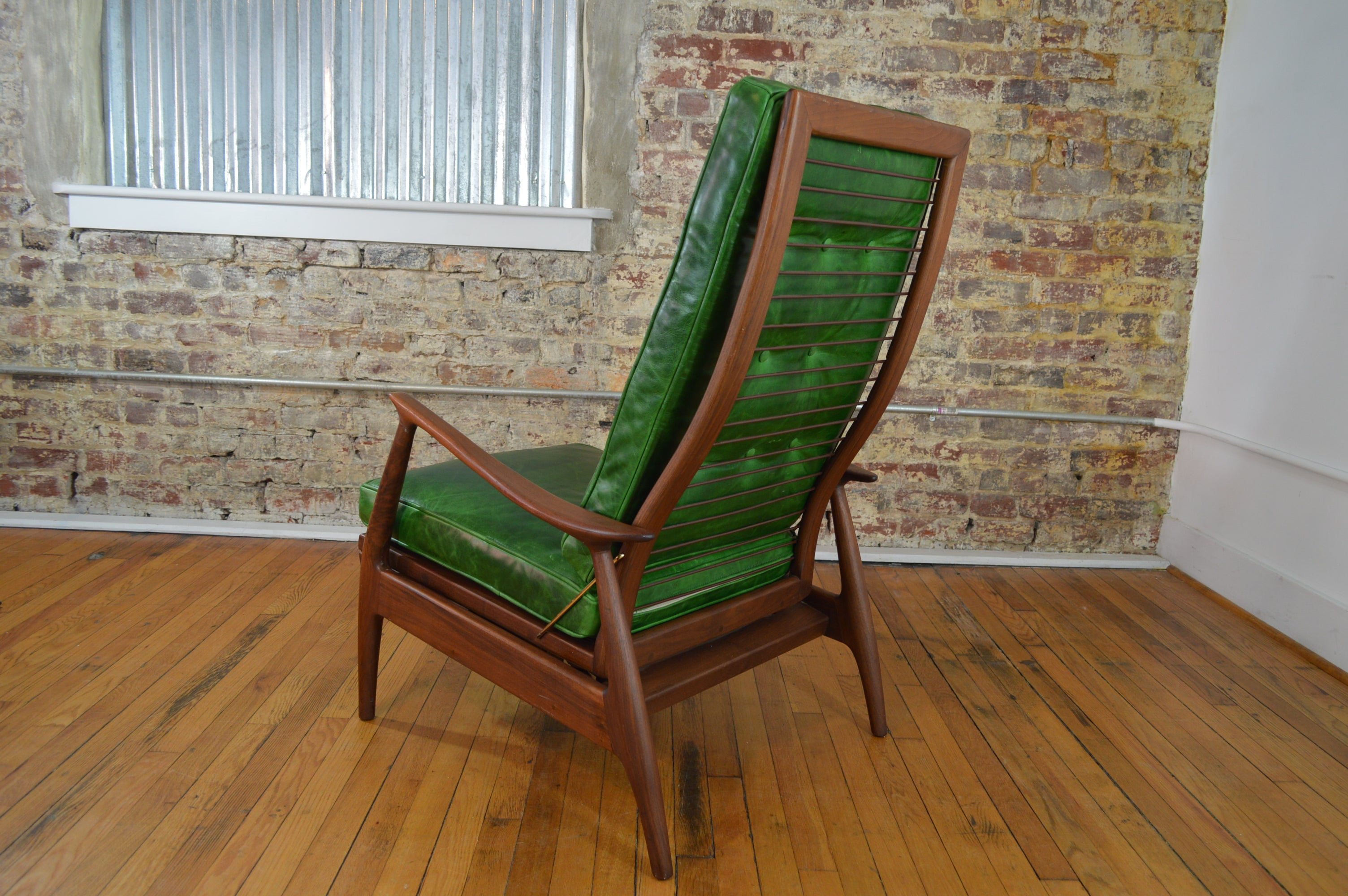 Milo Baughman for Thayer Coggin Walnut and Leather Recliner & Living Room tagged
