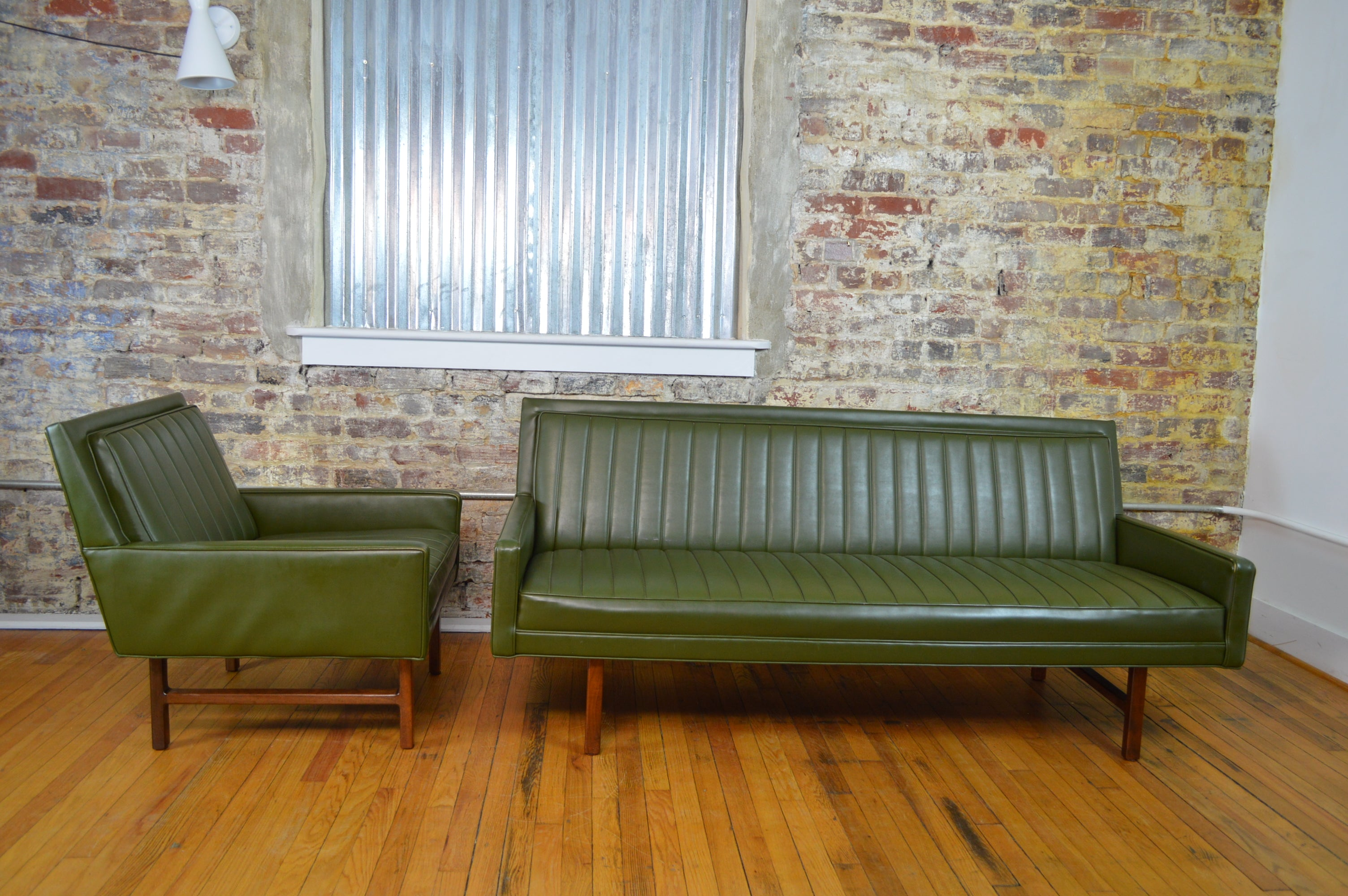 Milo Baughman For Thayer Coggin Matching Mid Century Modern Sofa And Chair