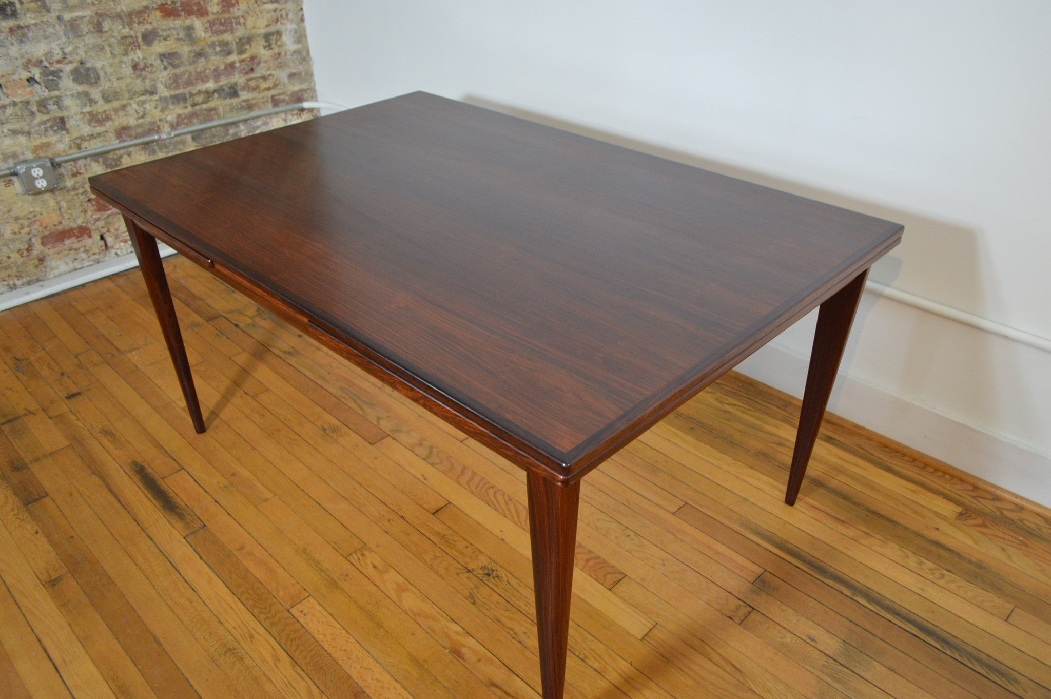 12 J.L. Moller Danish Rosewood Refractory Dining Table