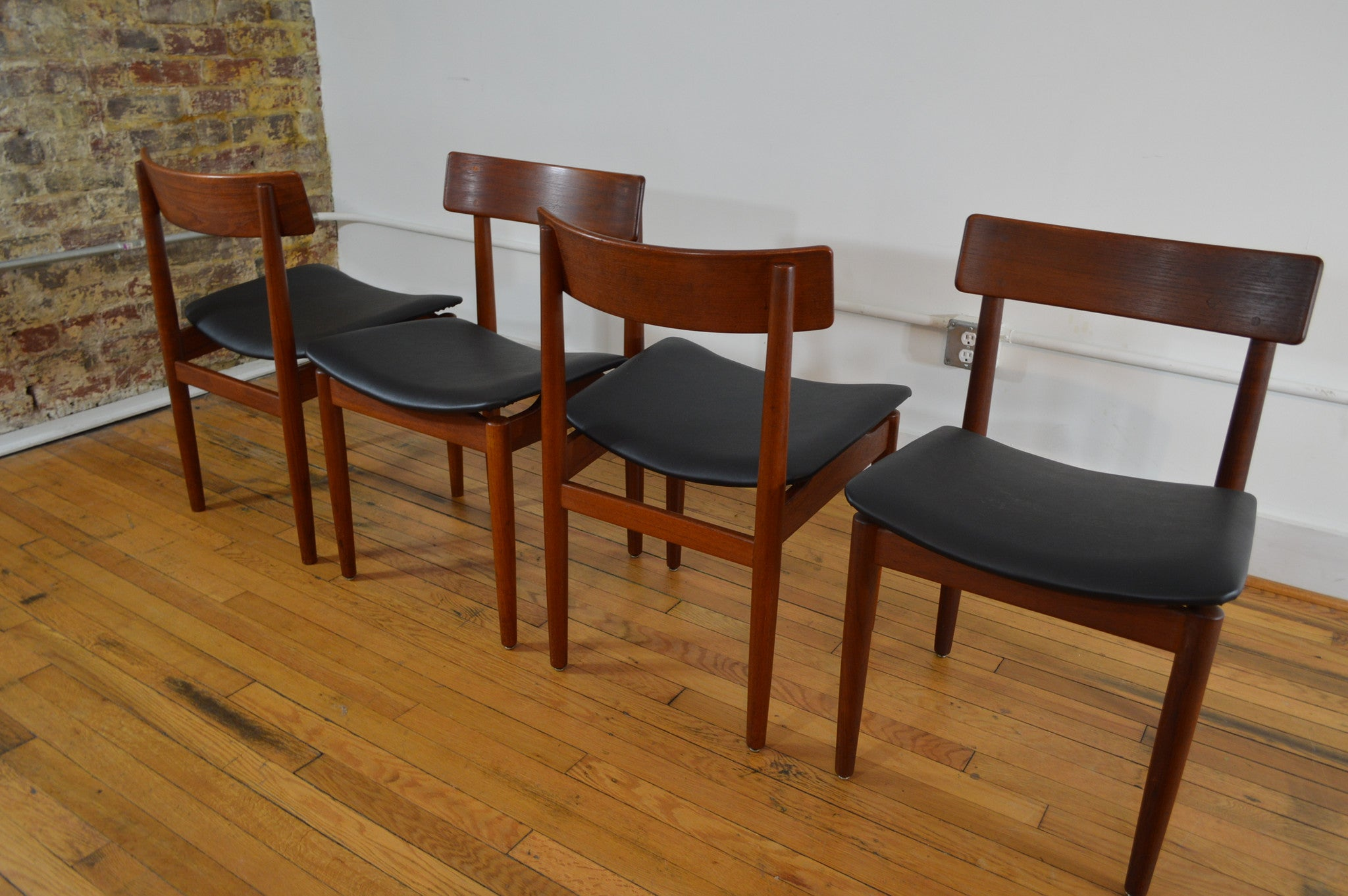 nils jonsson for troeds sweden teak dining chairs set of 4