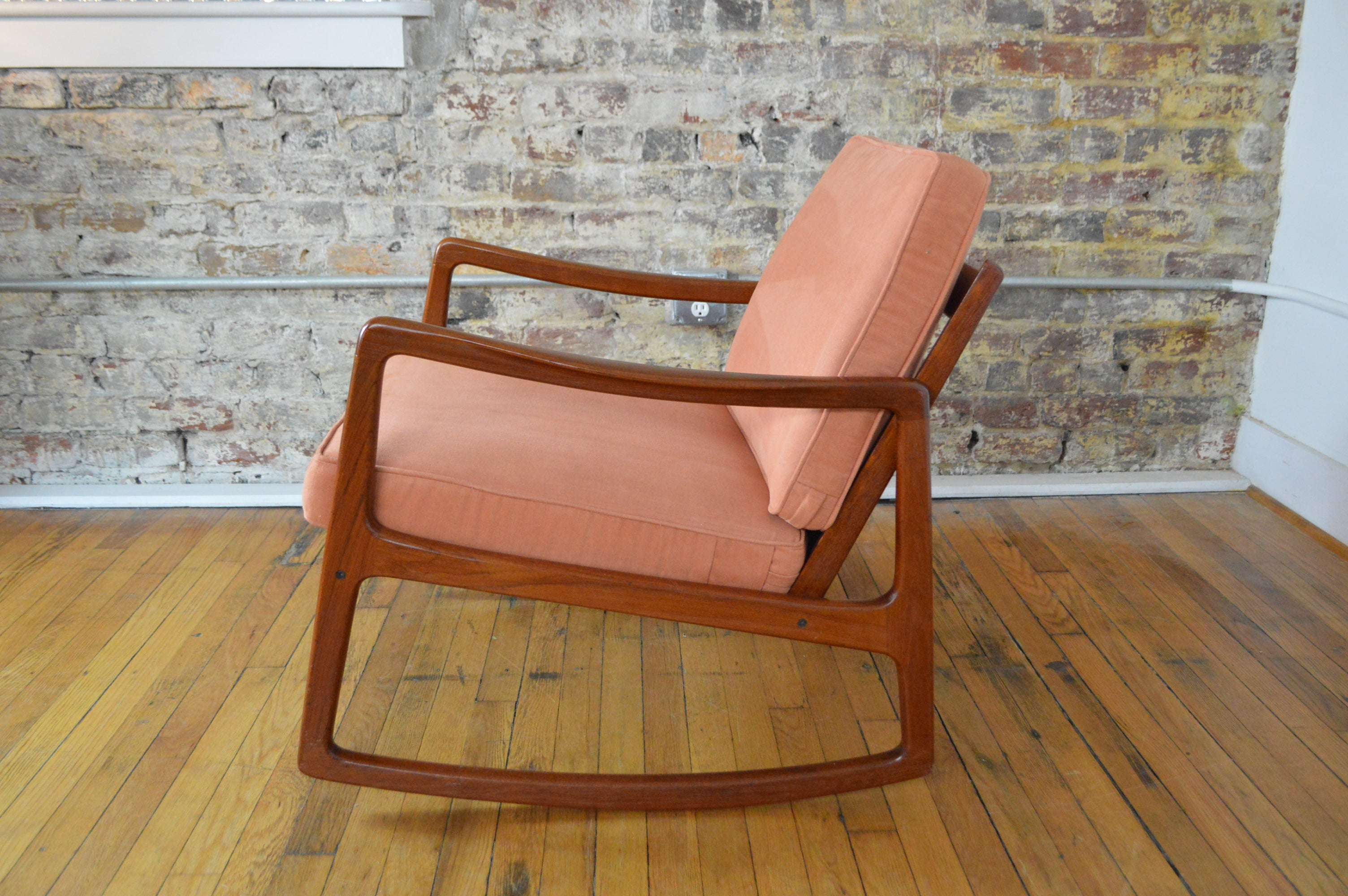 Picture of: Ole Wanscher For France Sons Danish Modern Teak Rocking Chair Galaxiemodern