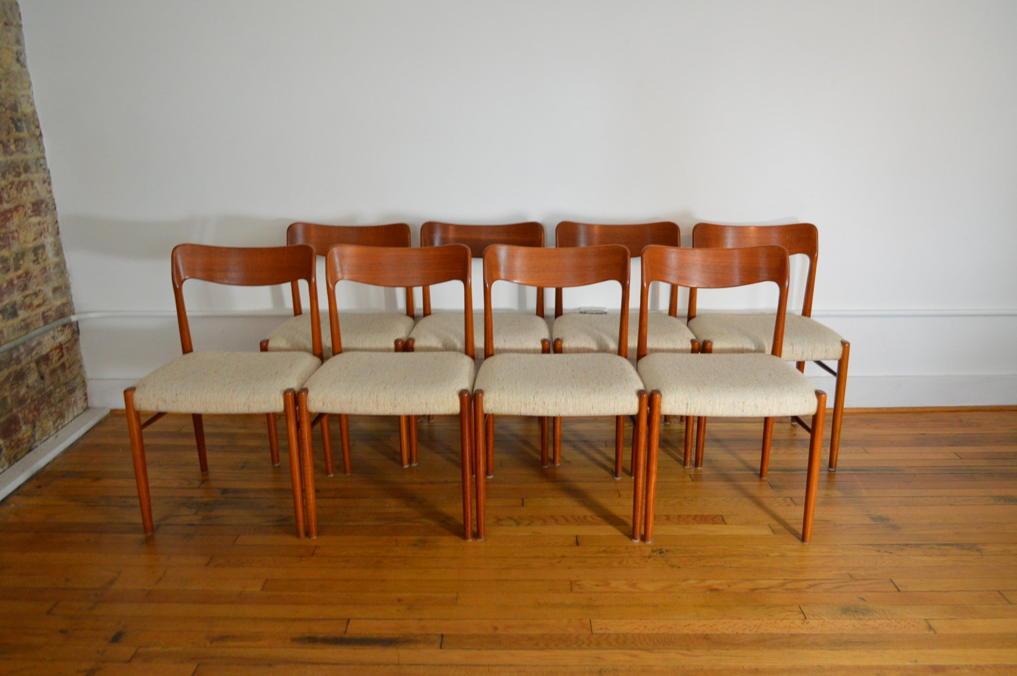 SVA Mobler Danish Teak Dining Chairs Set Of 8