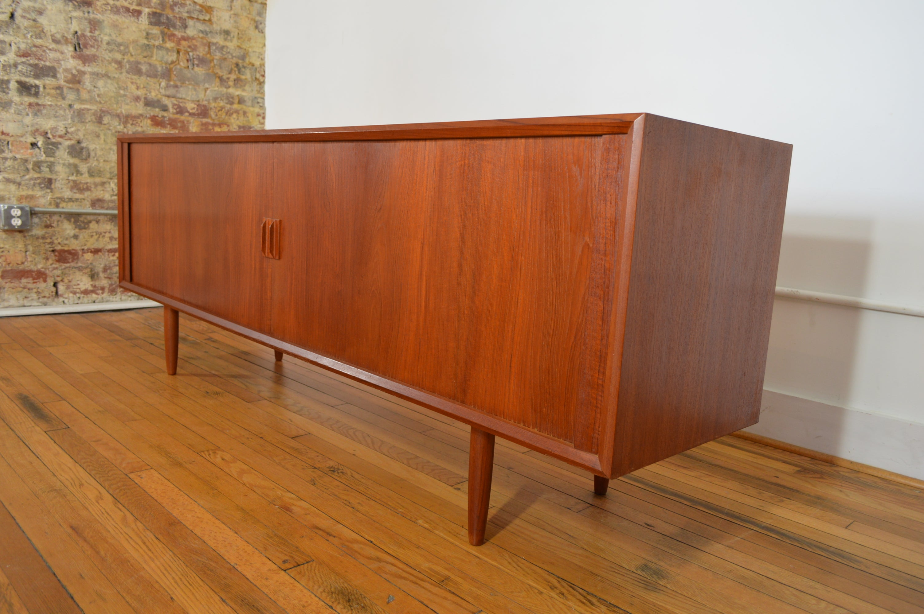 Danish Floating Credenza : Sven aage larsen for faarup mobelfabrik danish teak credenza with