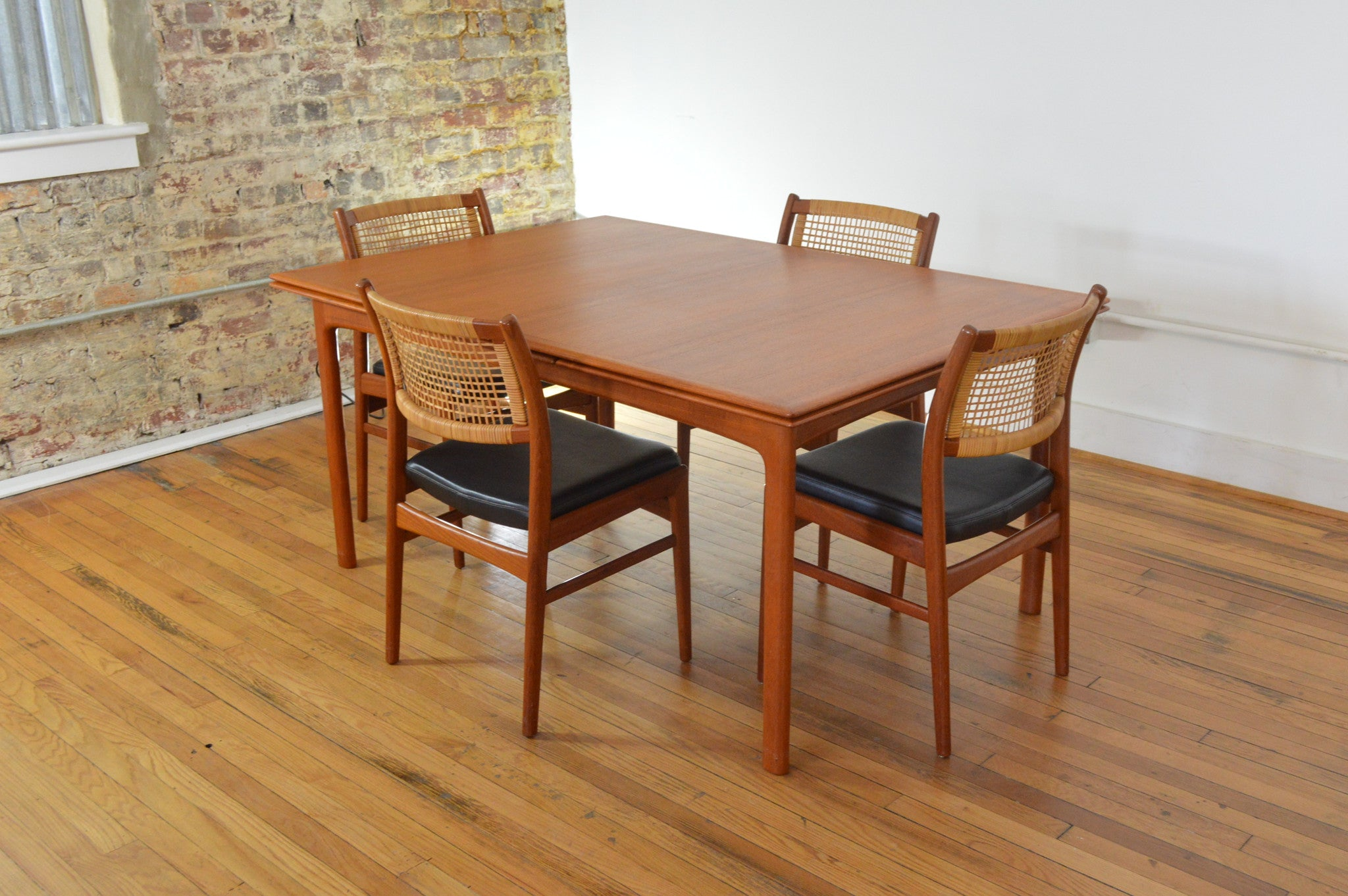Swedish Refractory Teak Dining Table - GalaxieModern