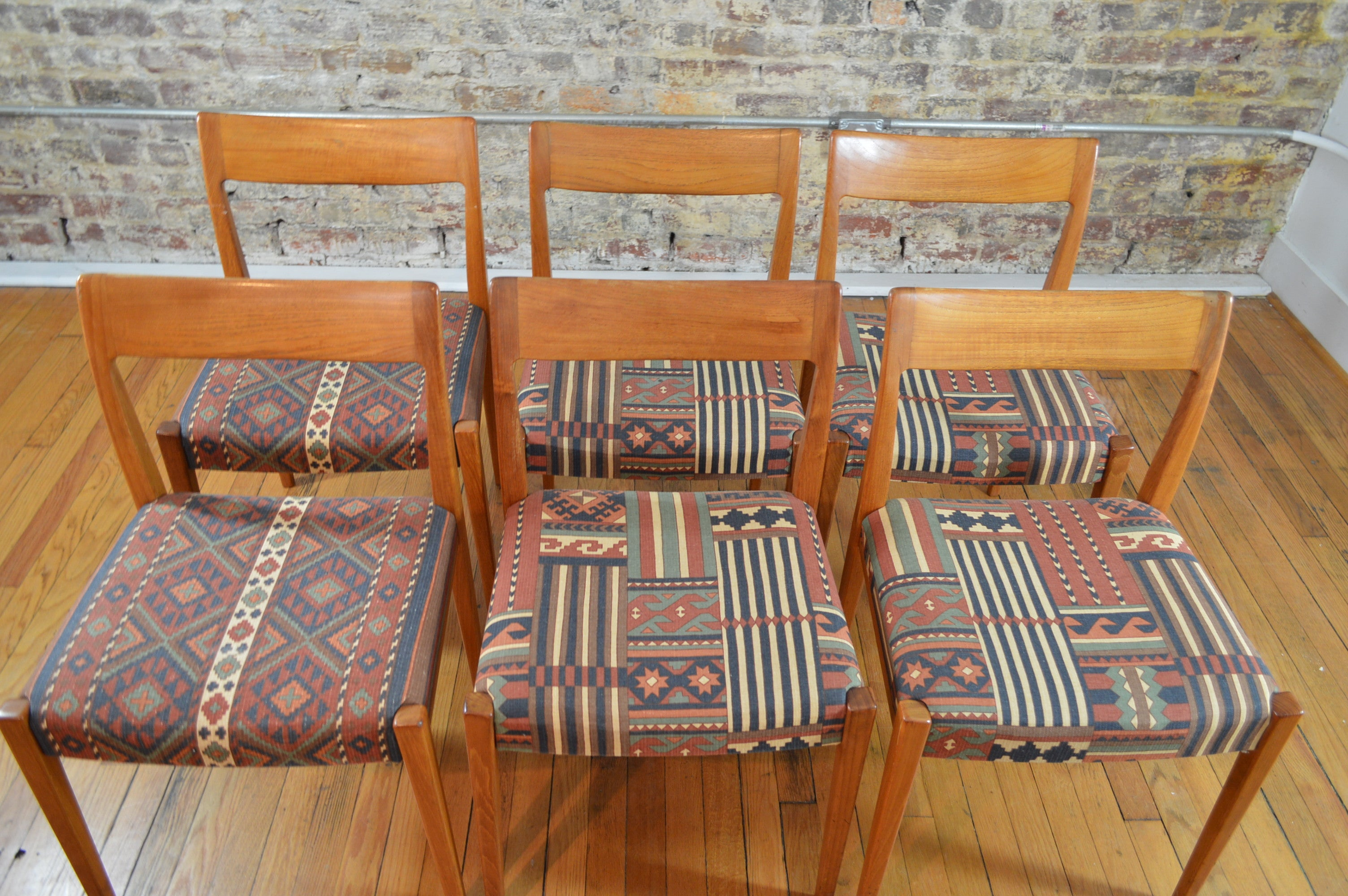 Awesome Troeds Bjarnum Sweden Set Of Six Teak Dining Chairs